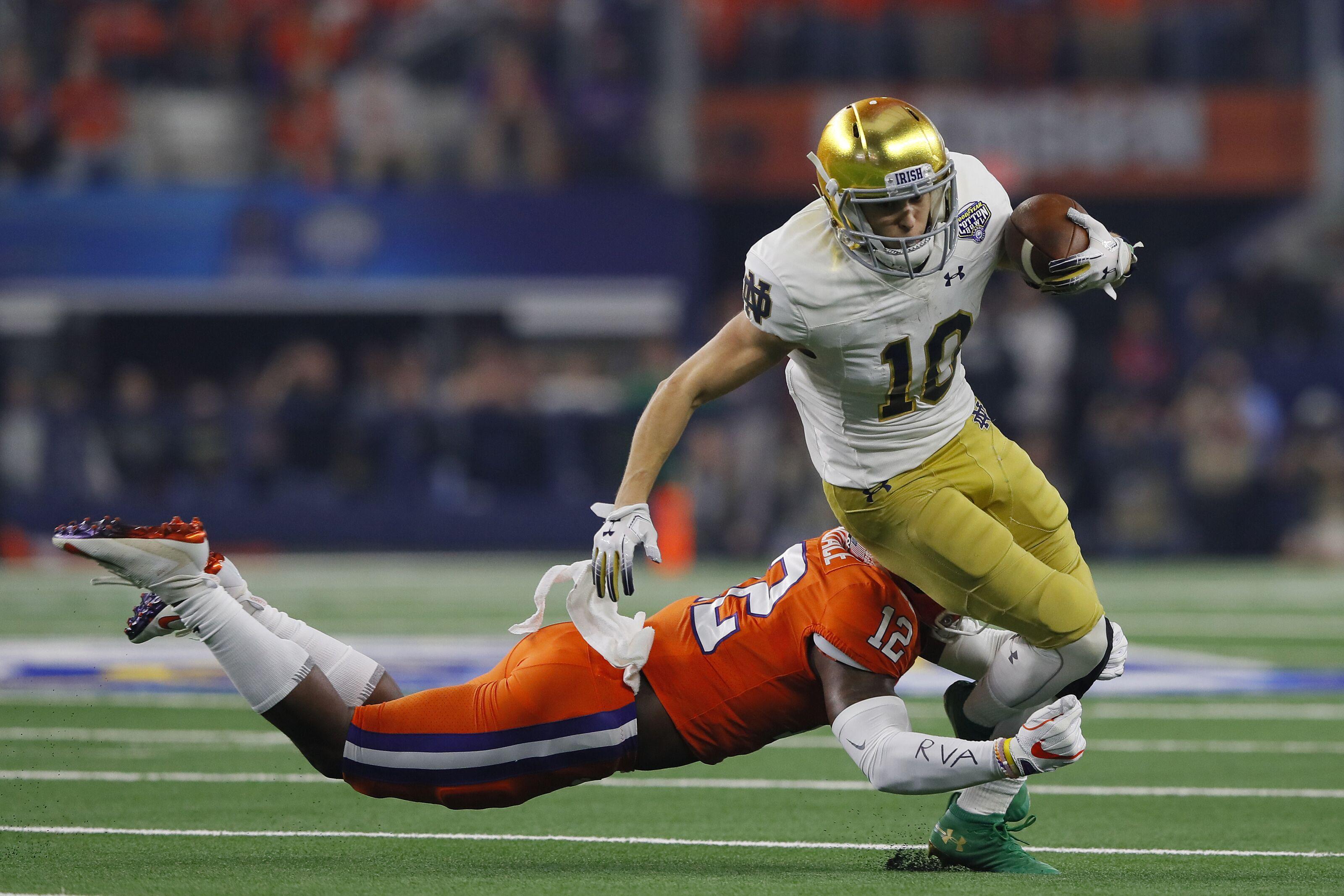 Notre Dame Football: Finke, Claypool snubbed on Biletnikoff Watch List