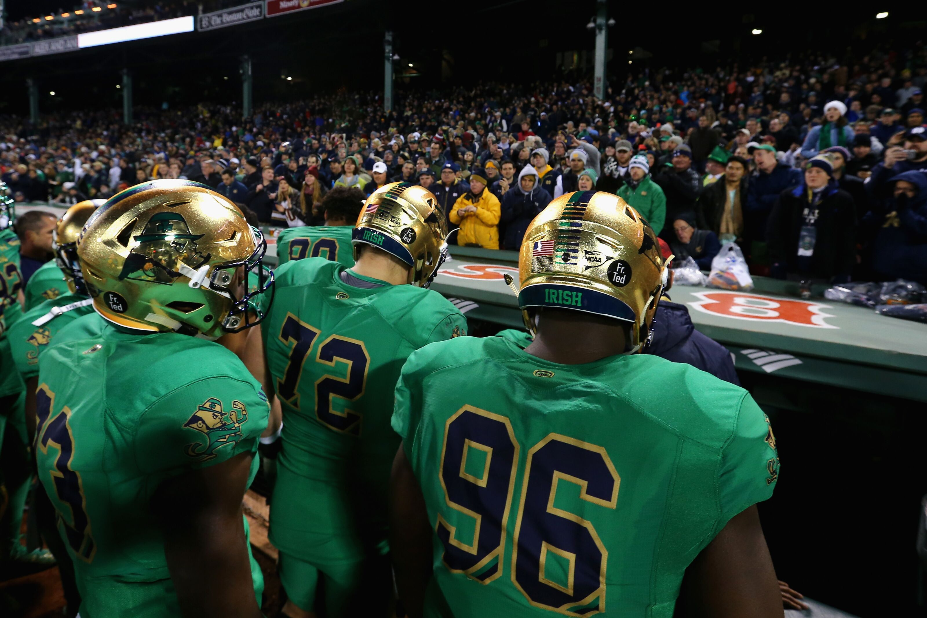new product e3691 5ddef Green Jerseys: Lucky Charm or Terrible Curse For Notre Dame ...