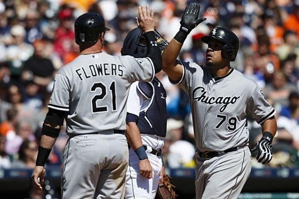 Jose abreus grand slam sends white sox to win apr 18 2015 detroit mi usa chicago white sox designated hitter jose abreu 79 receives congratulations from catcher tyler flowers 21 after he hits a mightylinksfo