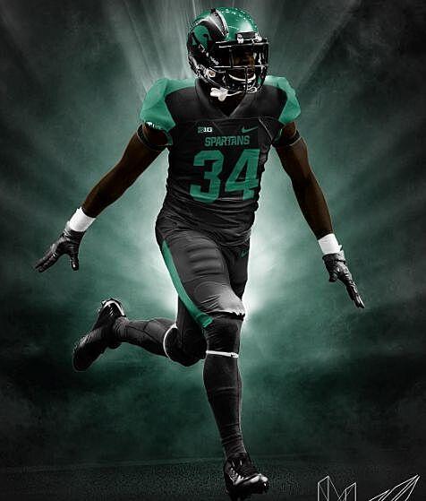 4cdd5d7761e Michigan State Football: Check out this all-black uniform idea