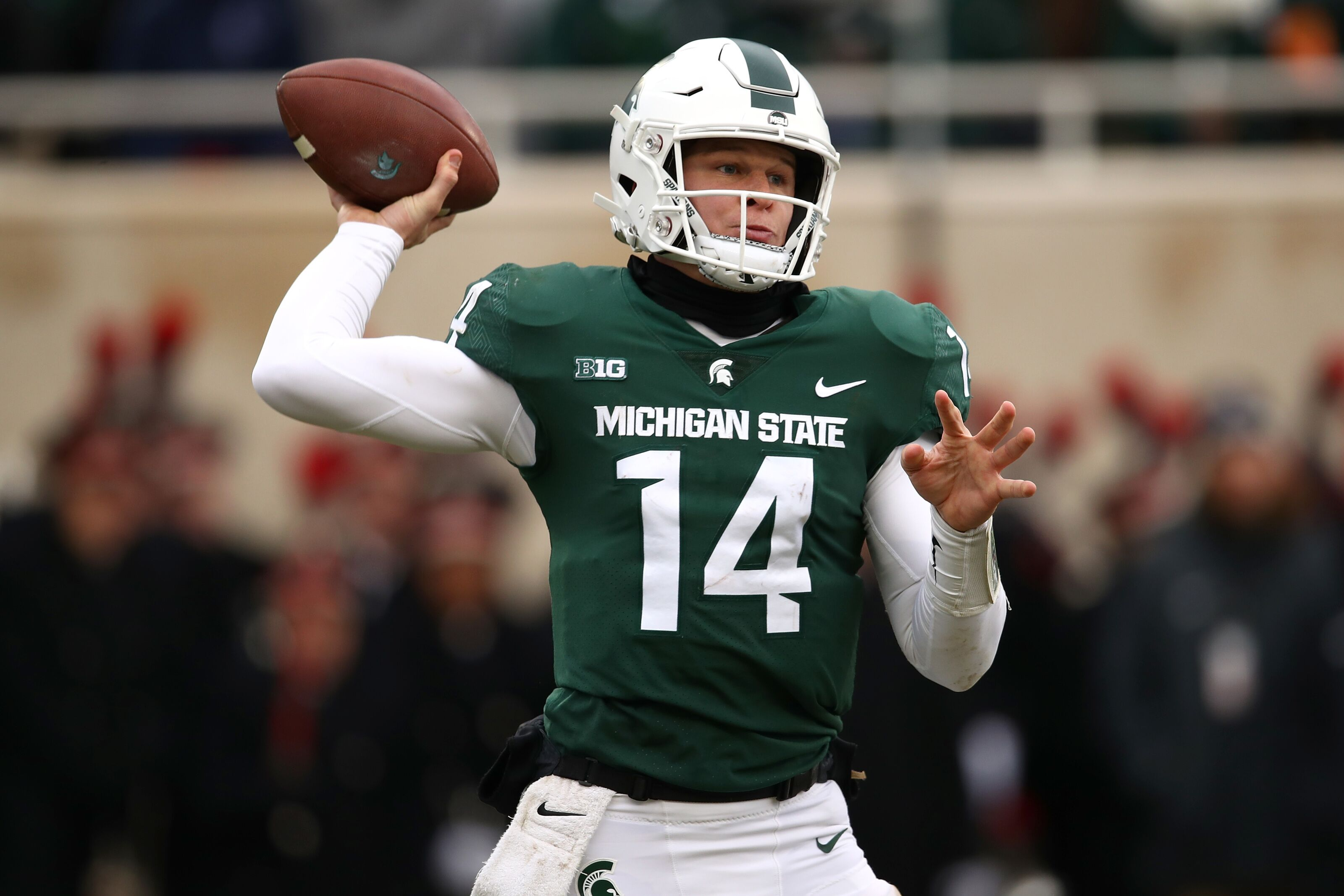 e2470f175 Michigan State football  Can Brian Lewerke contend for Big Ten s best QB