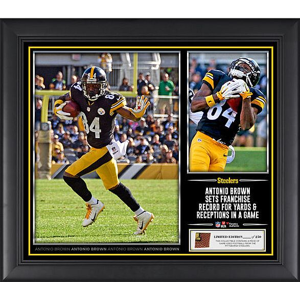 a32845f45 Antonio Brown Pittsburgh Steelers Fanatics Authentic Autographed 8″ X 10″  Photo