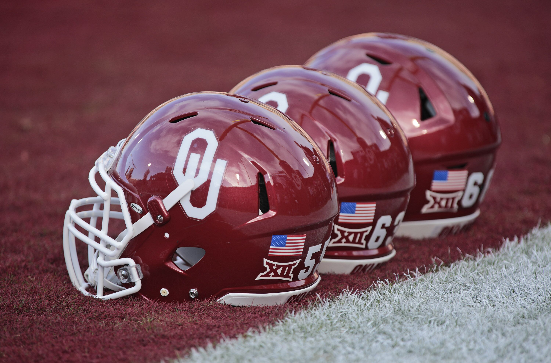 Image result for oklahoma football helmets