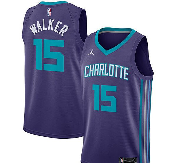 b756198e3 Kemba Walker Charlotte Hornets Adidas Name   Number Long Sleeve T-Shirt