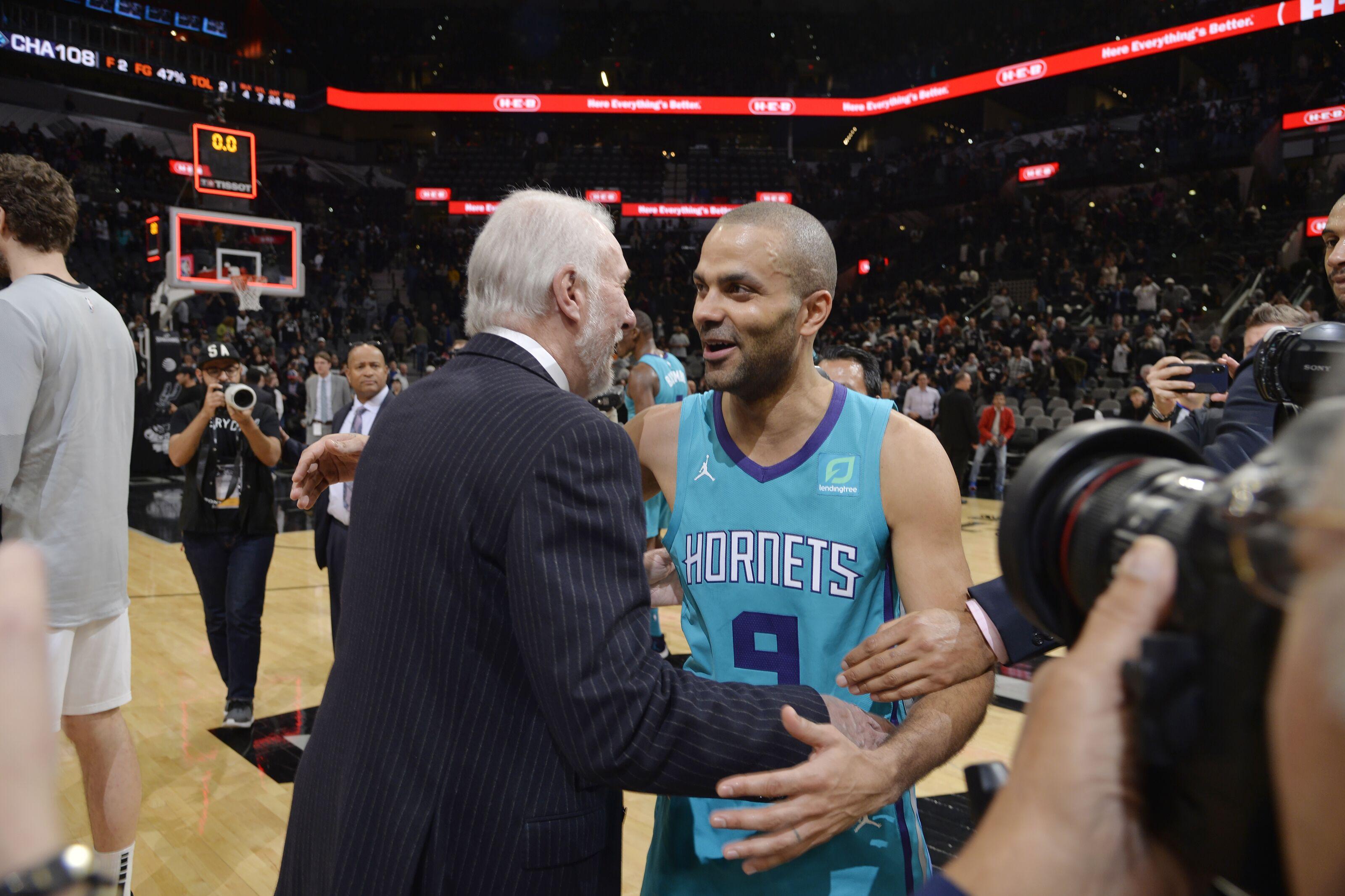 Charlotte Hornets Alumni: Spurs to retire Tony Parker's number next season