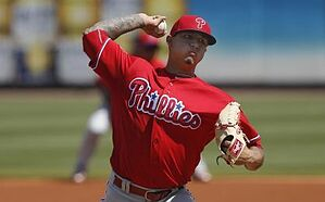 Mar 7, 2016; Bradenton, FL, USA; Philadelphia Phillies pitcher Vincent Velasquez (28) throws during the first inning of a spring training baseball game against the Pittsburgh Pirates at McKechnie Field. Mandatory Credit: Reinhold Matay-USA TODAY Sports