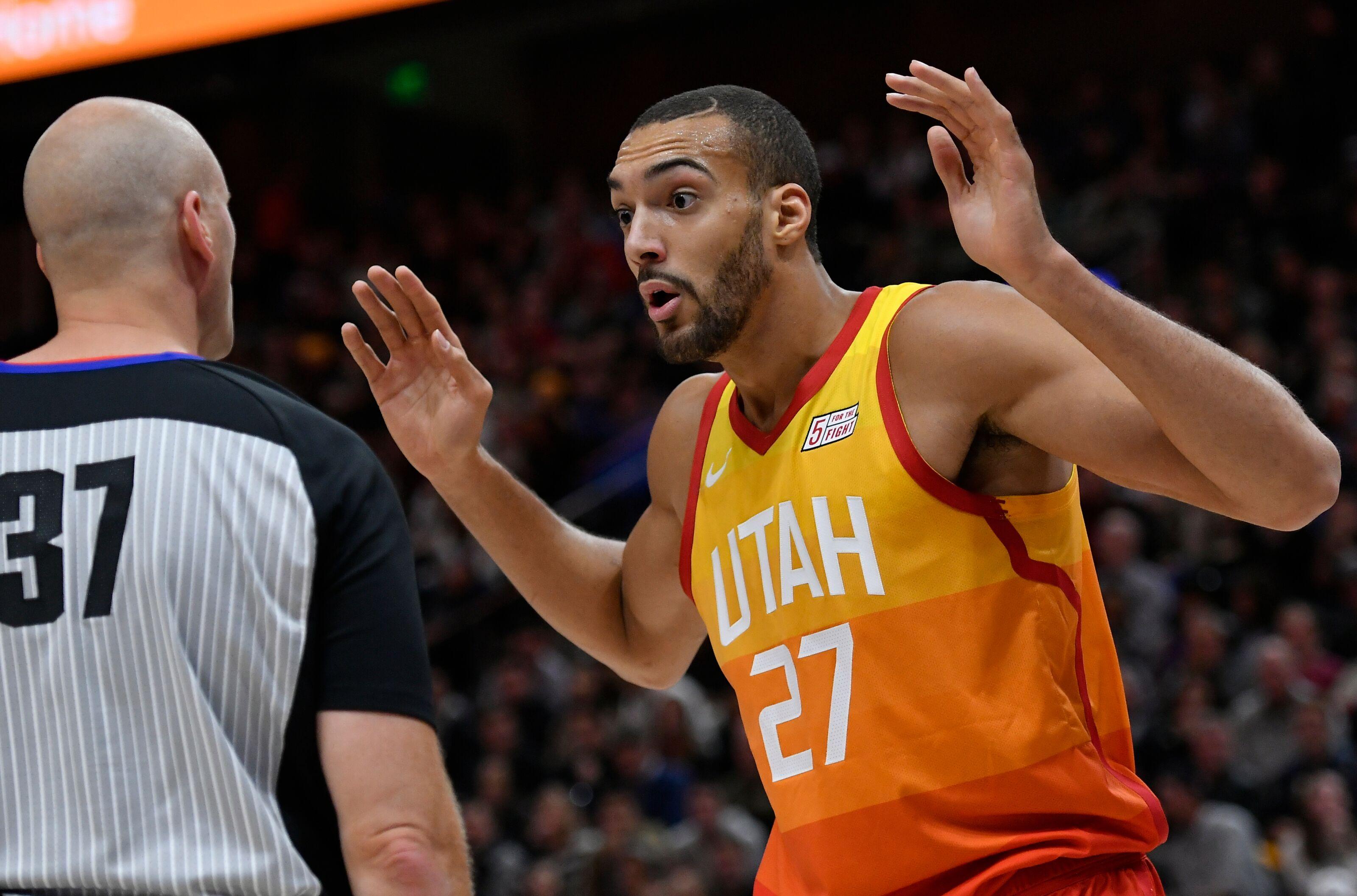 16d0daebf762 Utah Jazz  Rudy Gobert is still beefing with officials
