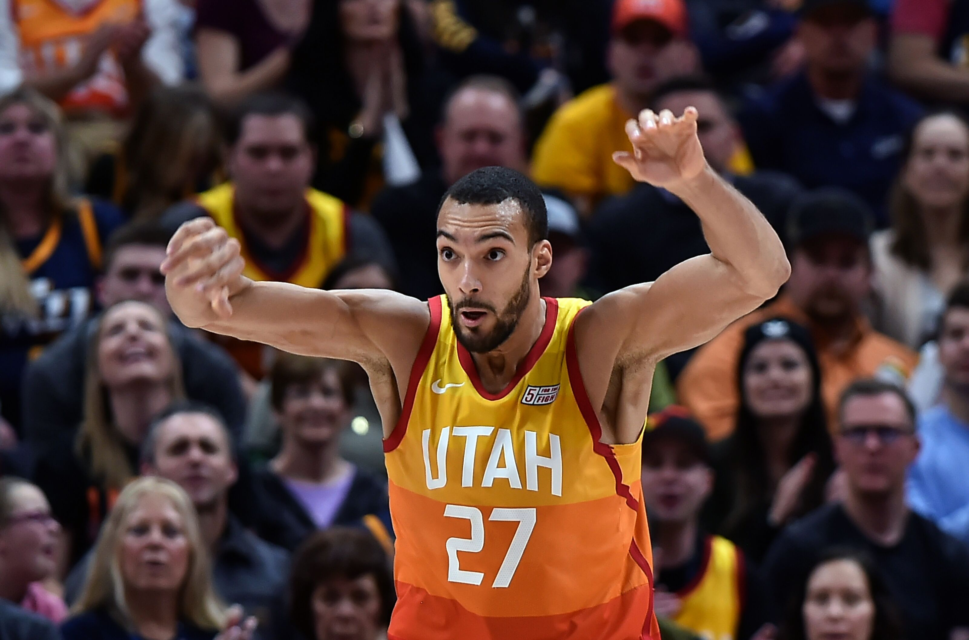 949d7ef88 Utah Jazz  Pundits still sleeping on Gobert as an All-Star are crazy