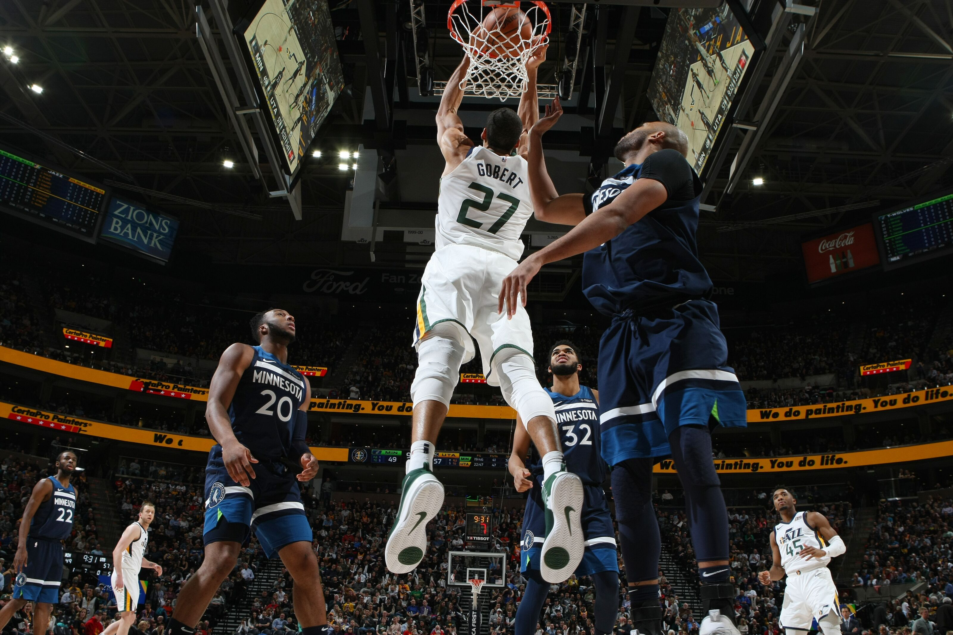 89480901 Utah Jazz in sixth place with win over Timberwolves, rematch Sunday