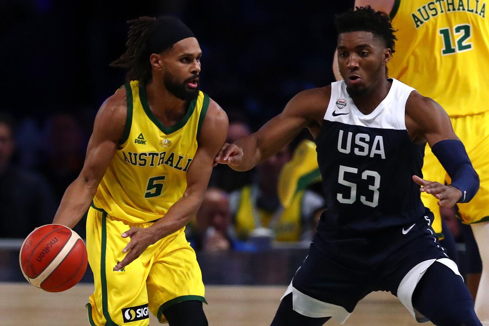 best service 21a2b 6b1cb Utah Jazz star Donovan Mitchell, Team USA got much-needed ...