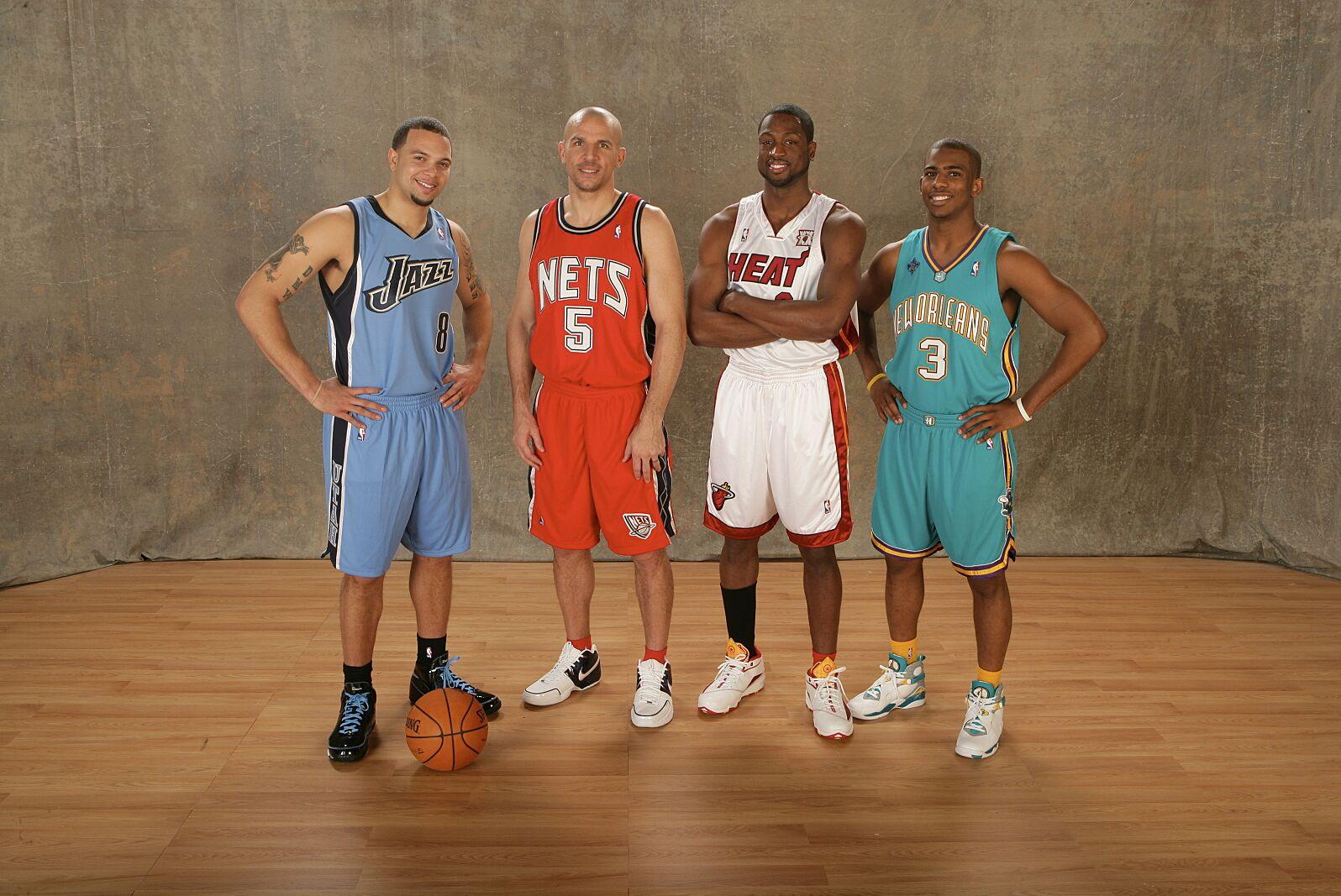 05f6199b2be Deron Williams Utah Jazz Skills Challenge NBA All-Star Chris Paul Dwyane  Wade