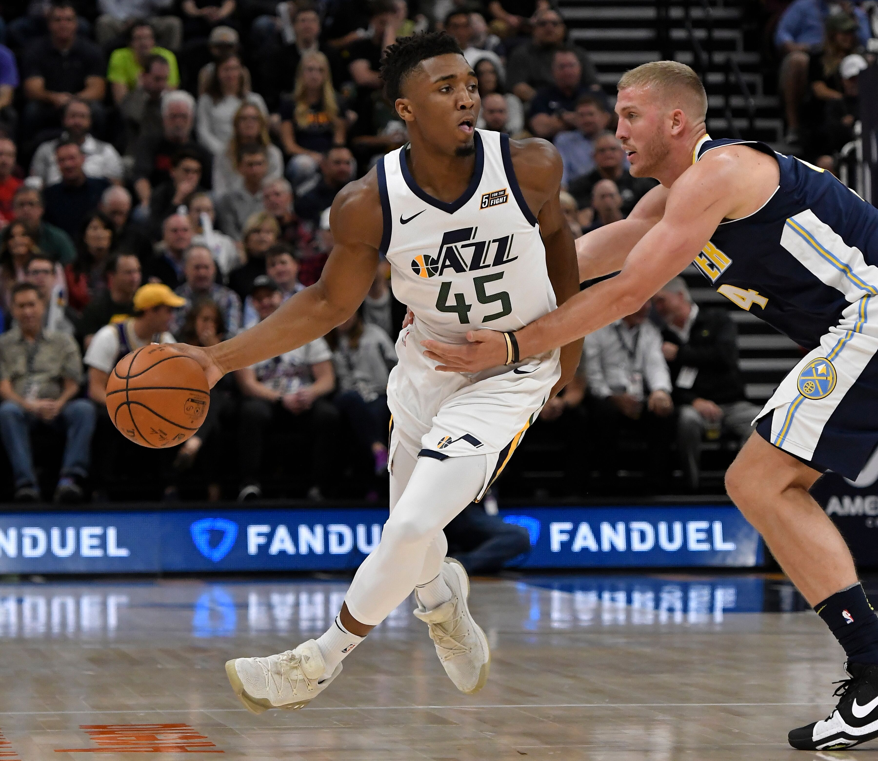 Utah Jazz notes  Donovan Mitchell s first game jersey for sale 013e70c12