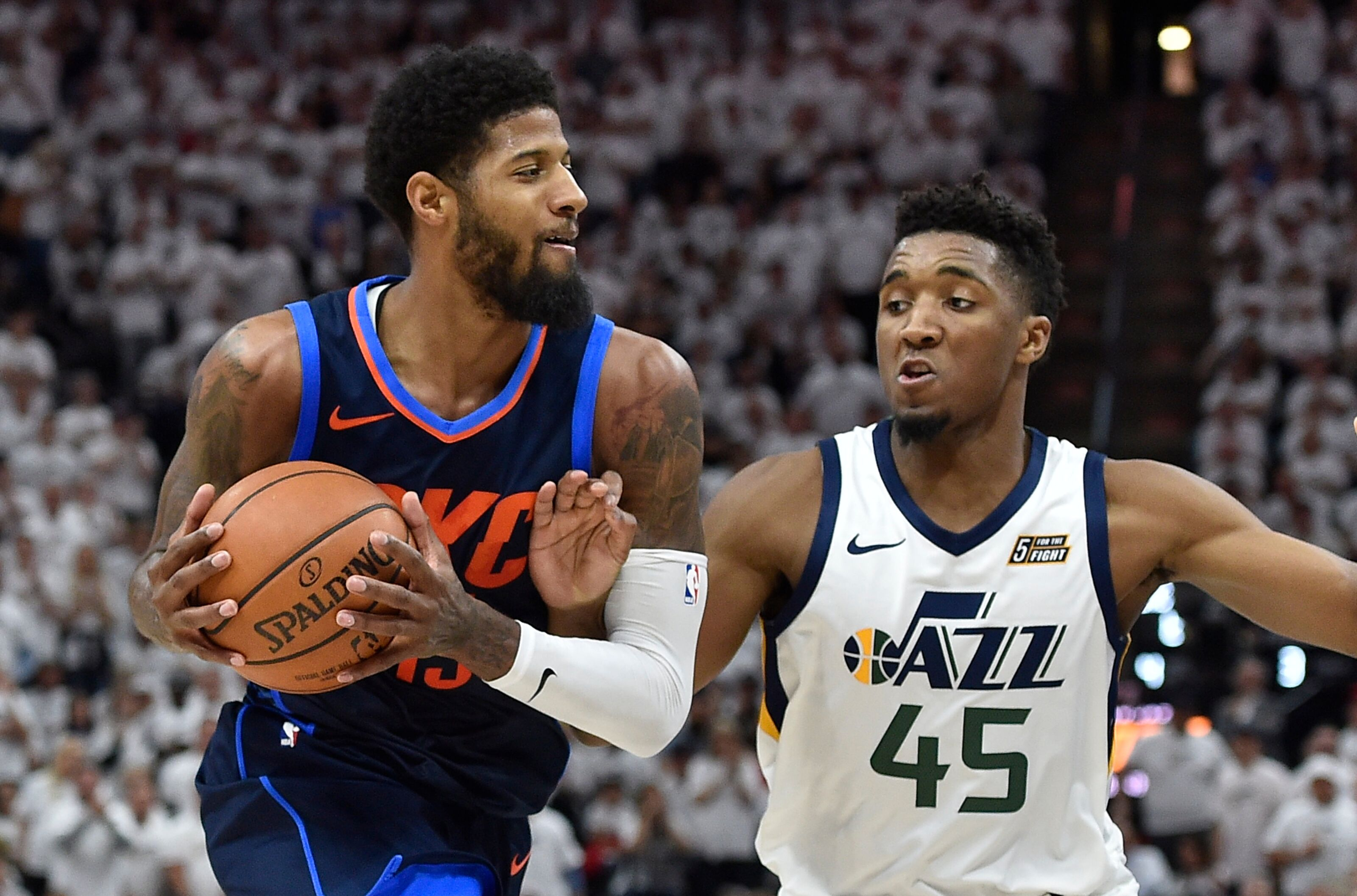 Utah Jazz  Donovan Mitchell continues to push Paul George recruitment 95b9e88a8