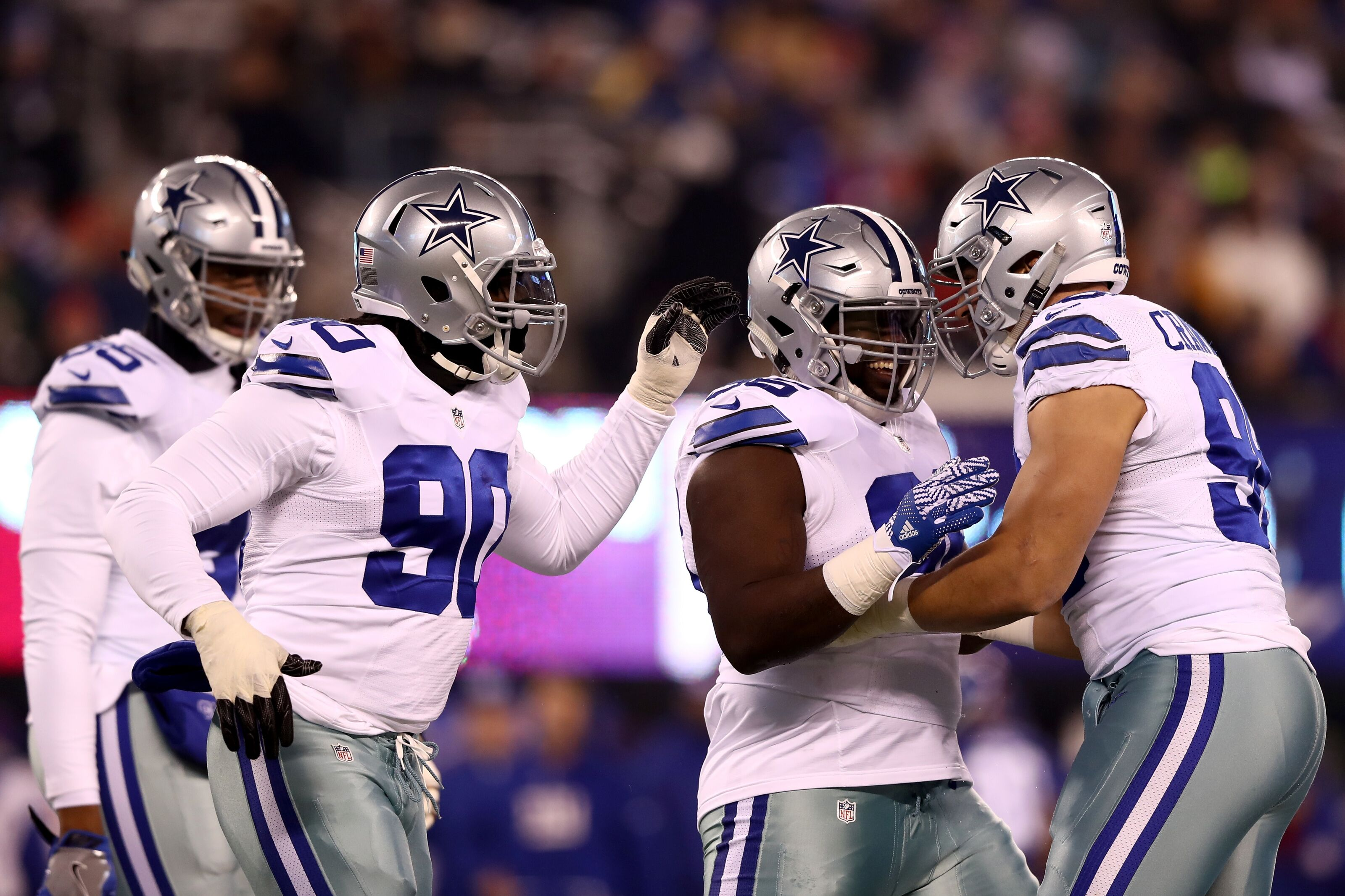 dallas cowboys ranking defensive lines in the nfc east