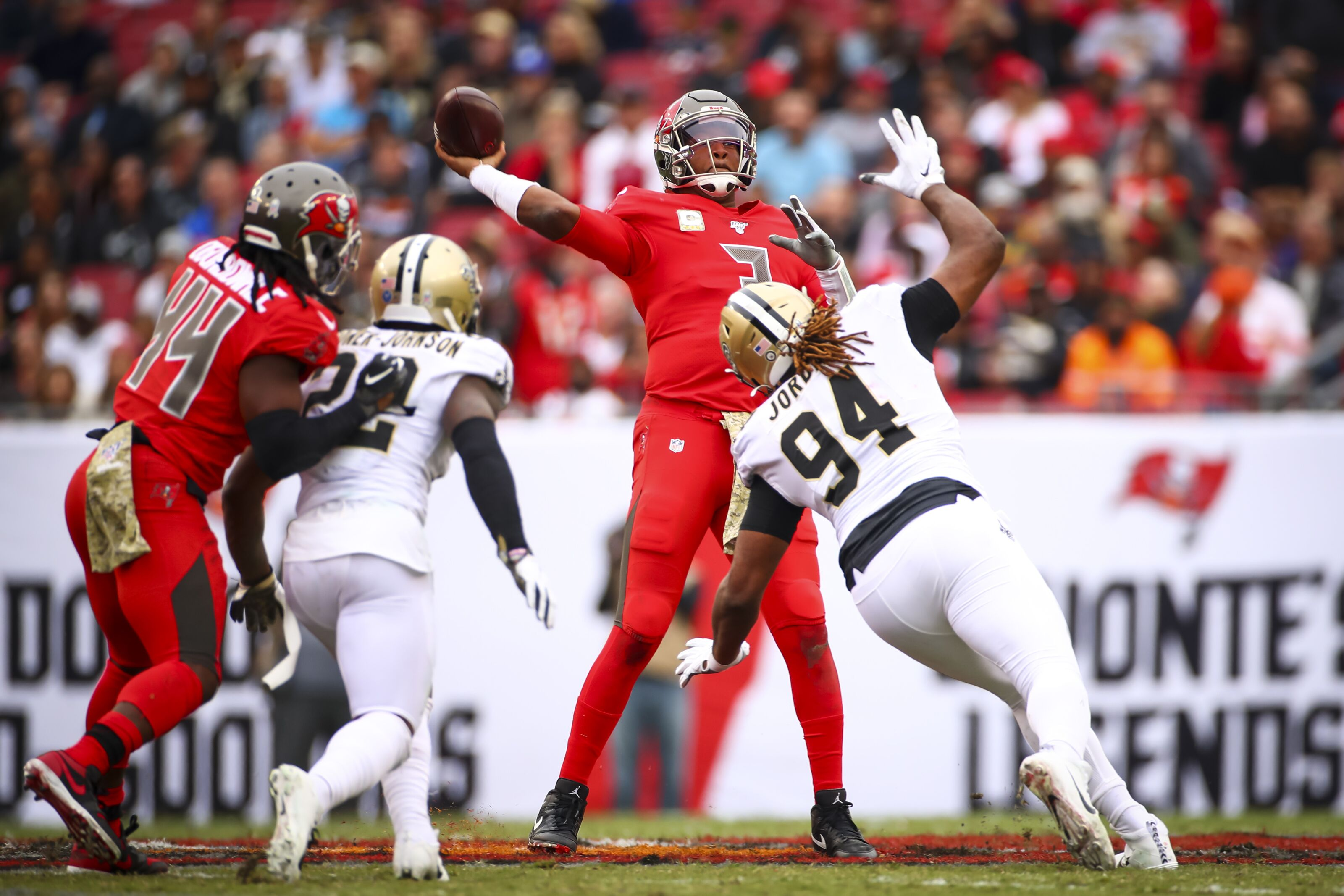 Buccaneers lose, Jameis Winston throws four picks, and Mike Evans frustrated