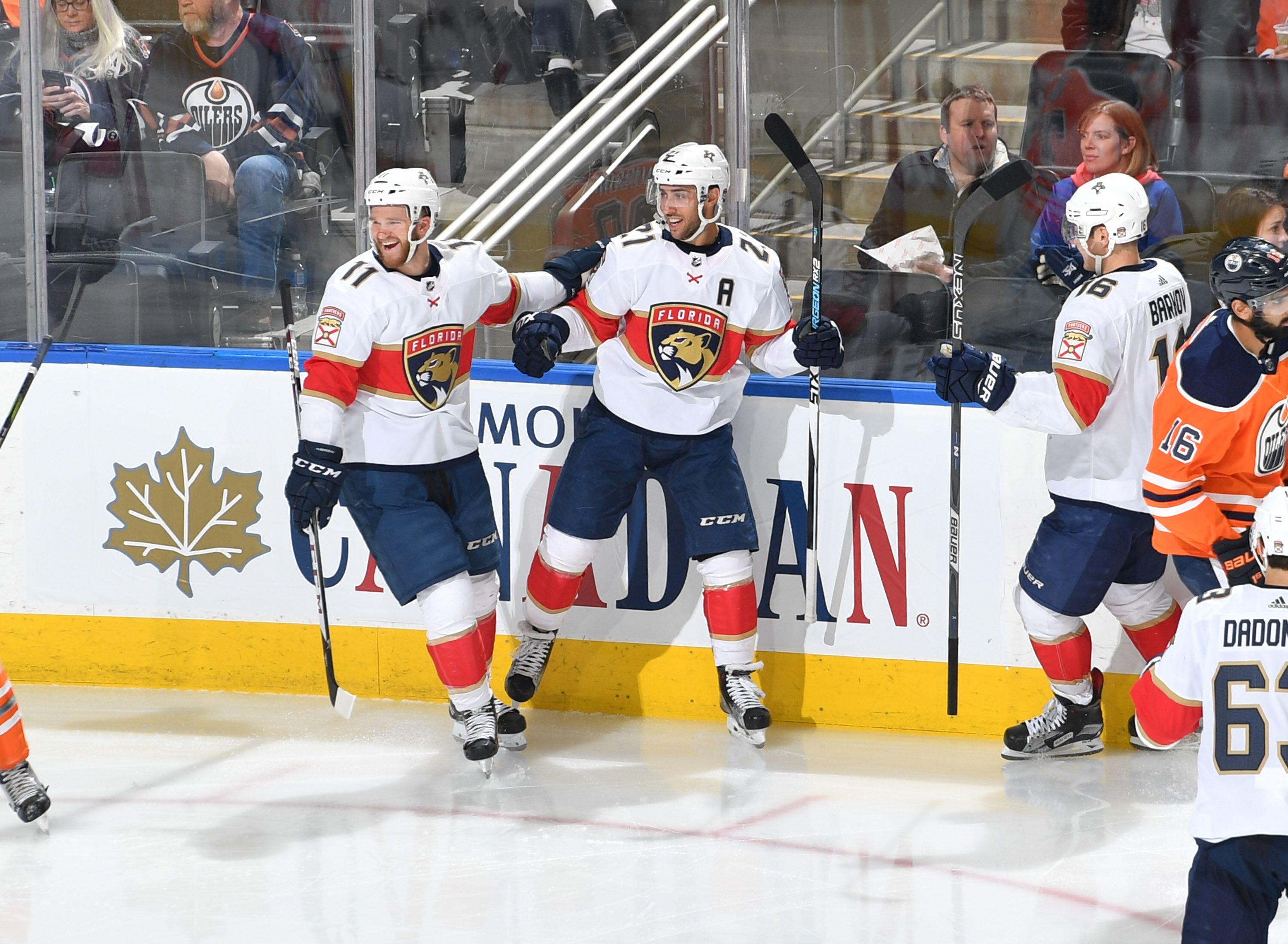 Florida Panthers center Micheal Haley (18) in the third  84484 9dbd4 Florida  Panthers Looking at their Playoff Chase detailed look ... 46a77a966