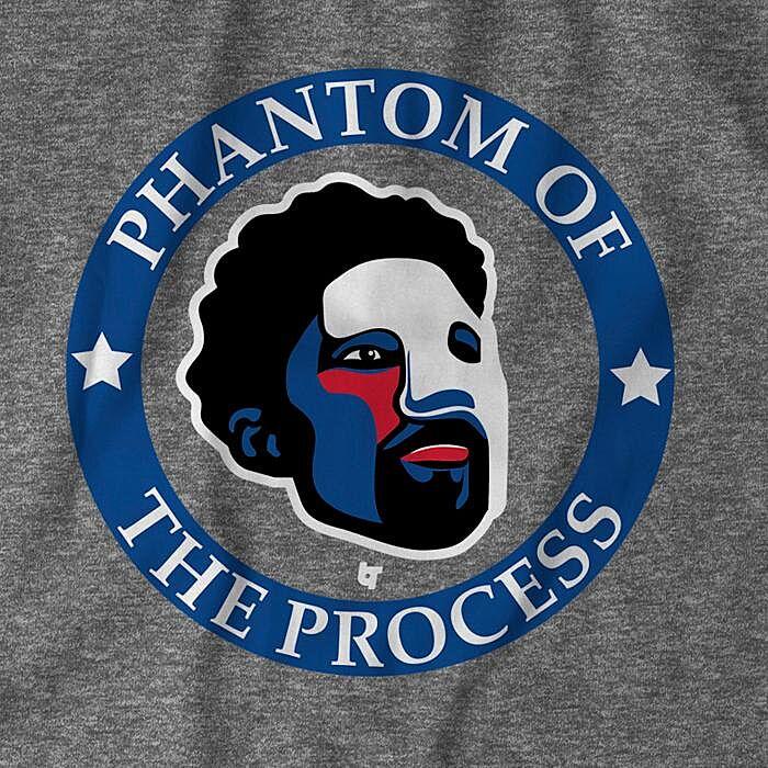 12a17b77f Philadelphia 76ers fans need this  Phantom of the Process  t-shirt