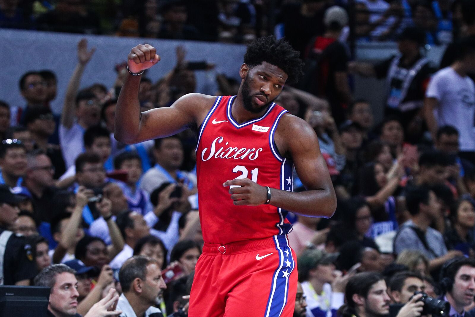 c45142ab6 Philadelphia 76ers center Joel Embiid signs with Under Armour