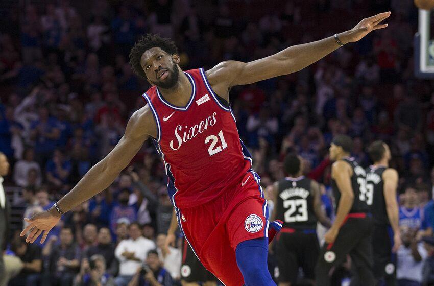 buy online 8f7d3 8f424 Philadelphia 76ers Player of the Week: Joel Embiid goes off