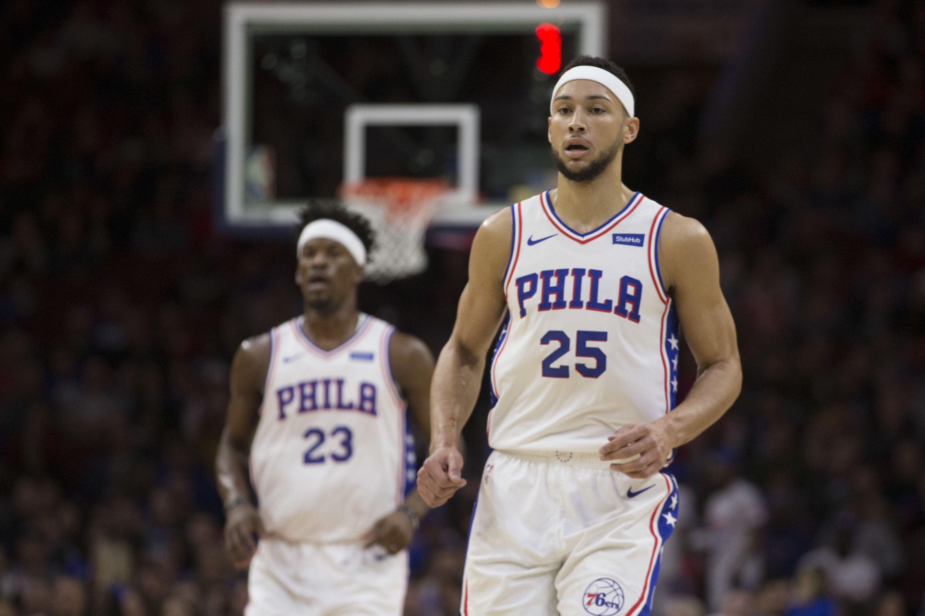 premium selection 211ef 6f878 Philadelphia 76ers: Ben Simmons improving after Jimmy Butler ...