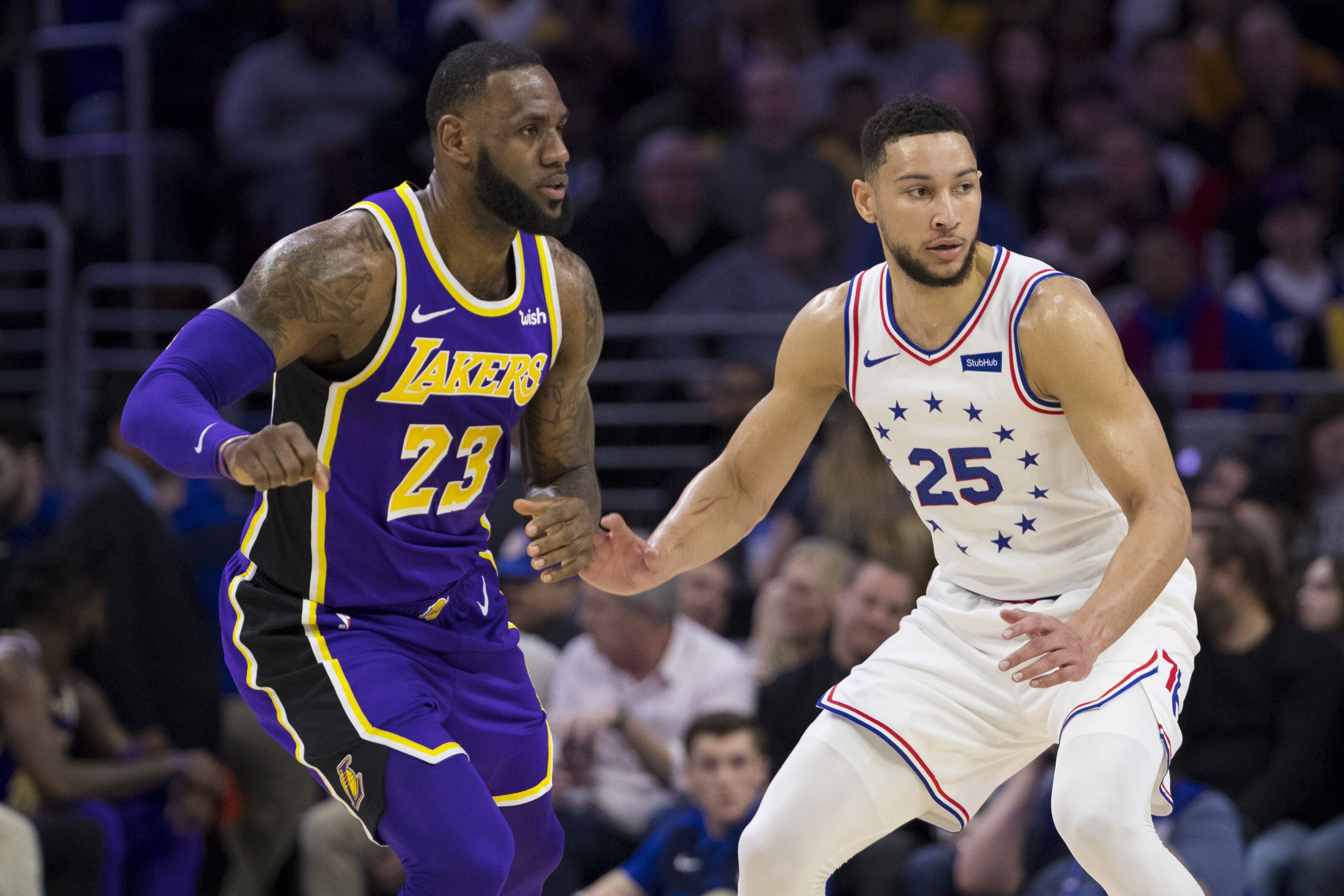 Potential Philadelphia 76ers and Lakers NBA finals would be fun