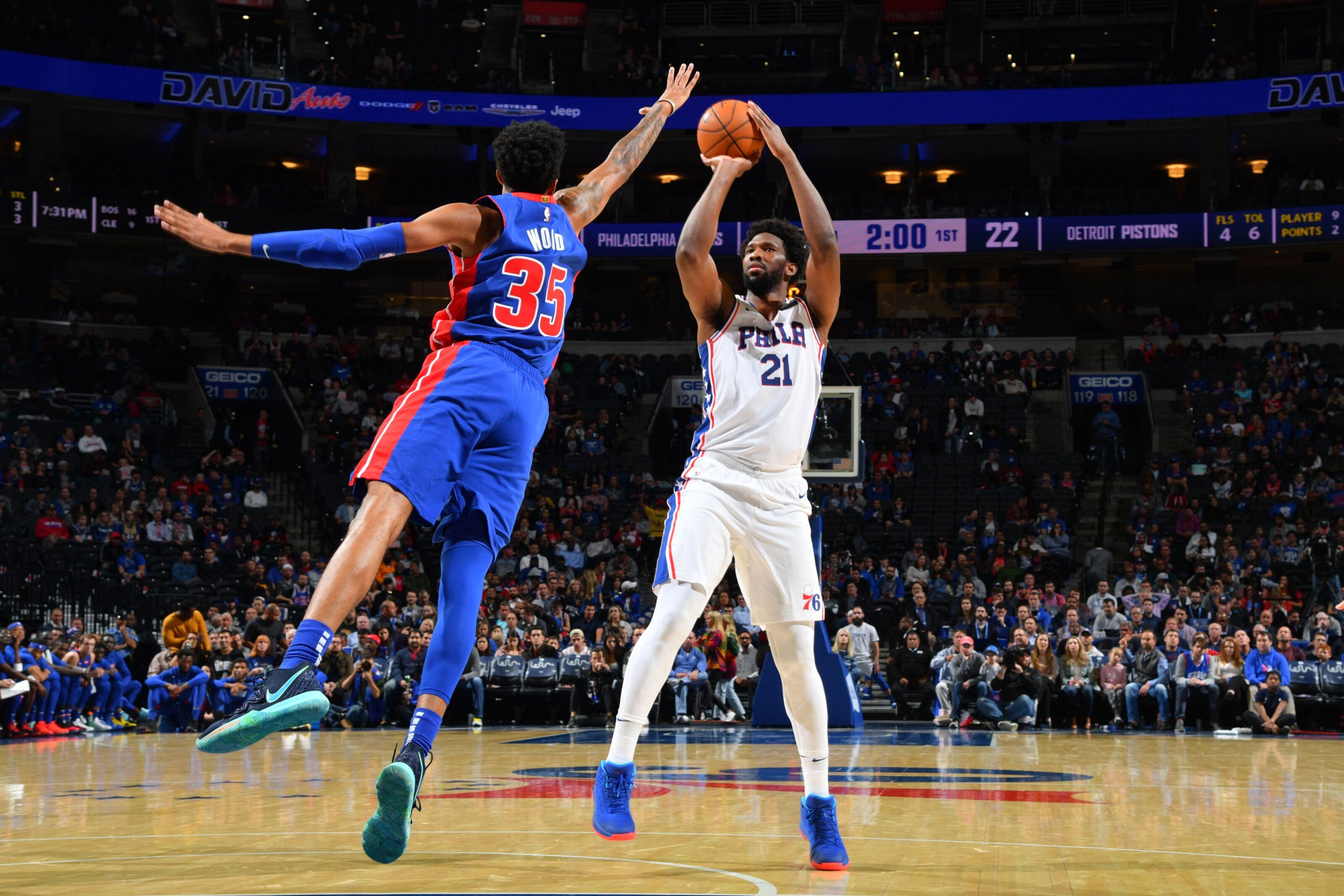 GRADES: Philadelphia 76ers 106, Detroit Pistons 86