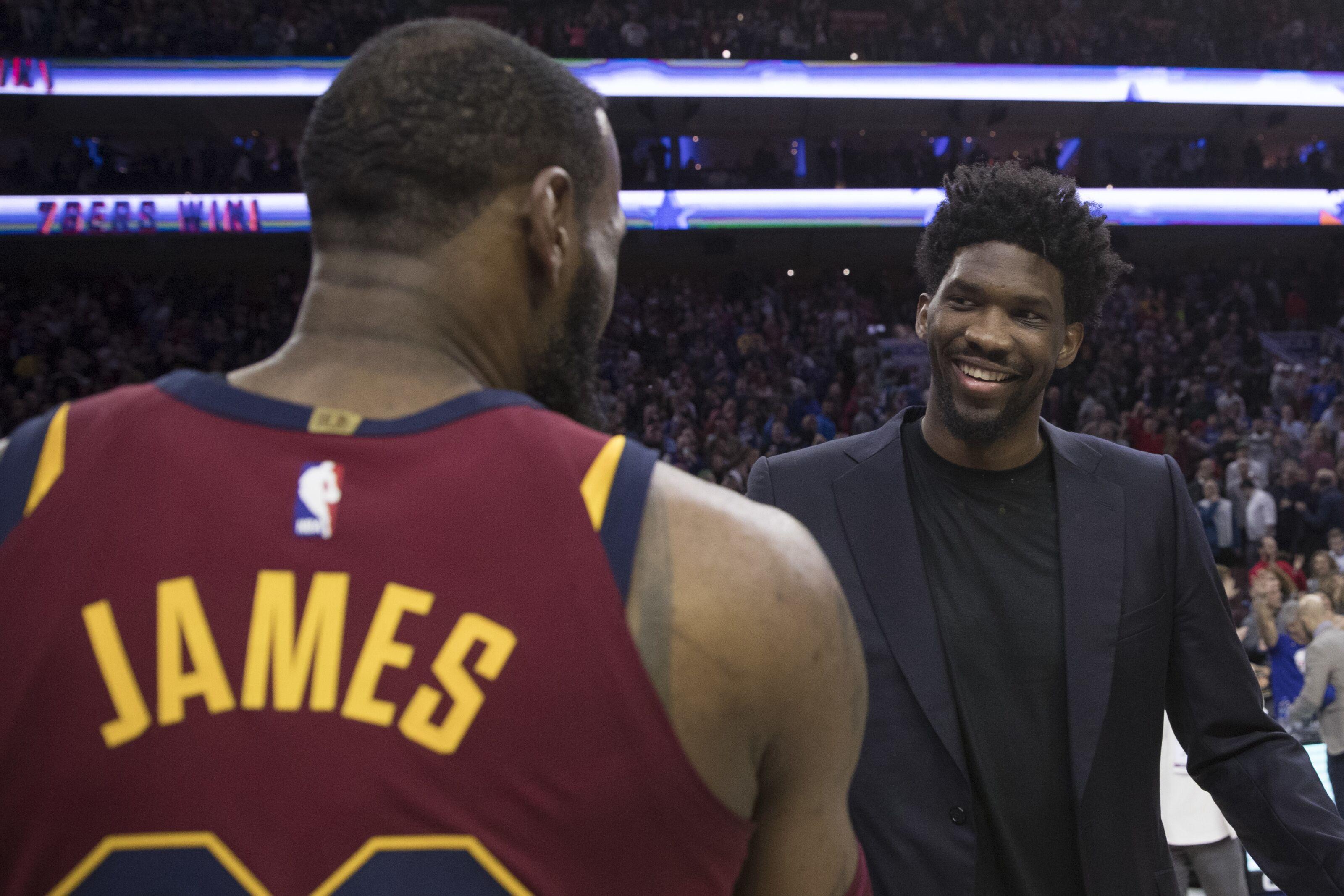 02305e2cc458 Philadelphia 76ers  Joel Embiid wastes no time in recruiting LeBron James
