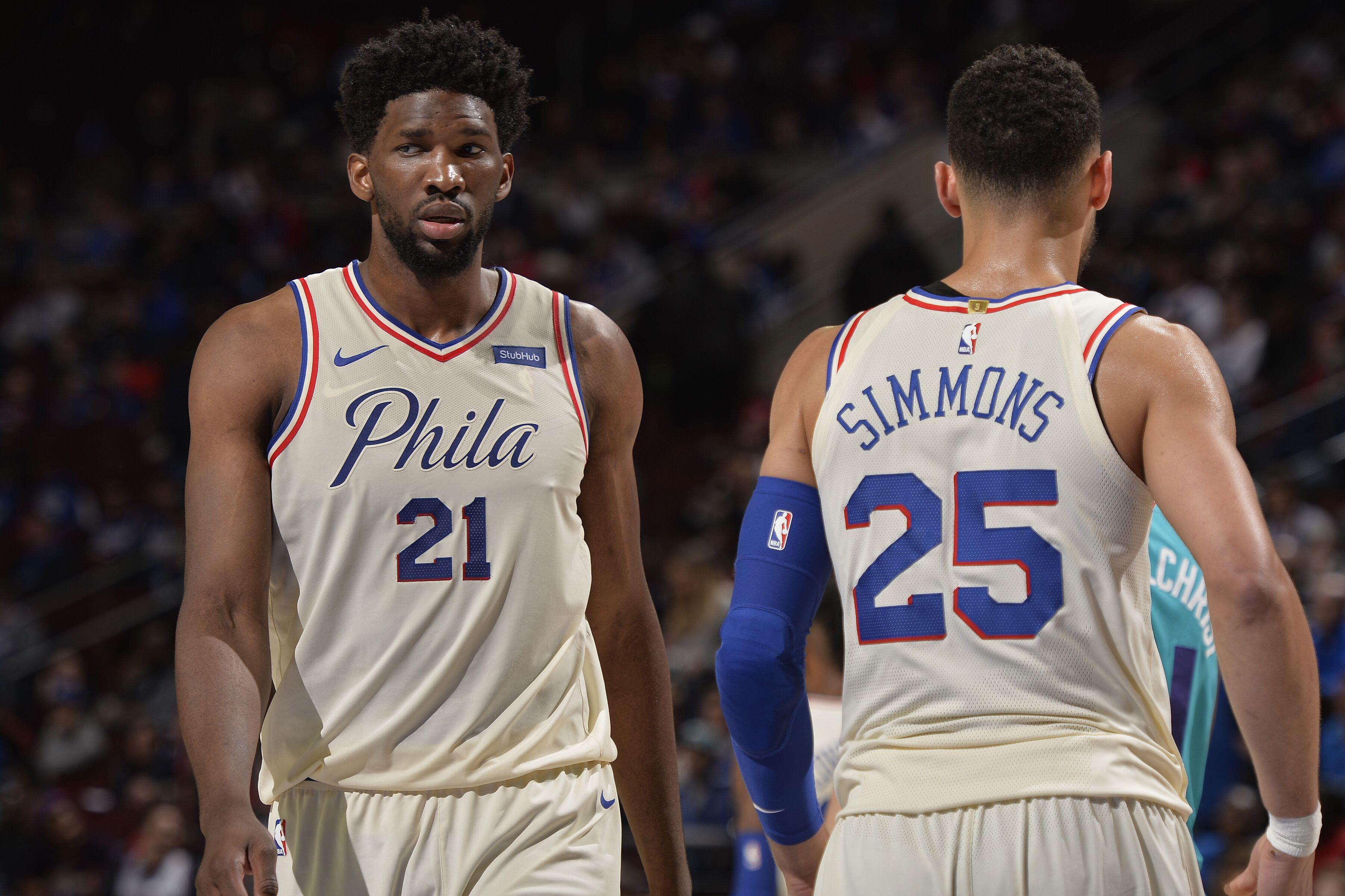 Philadelphia 76ers  Burden on Joel Embiid and Ben Simmons 4a250324e