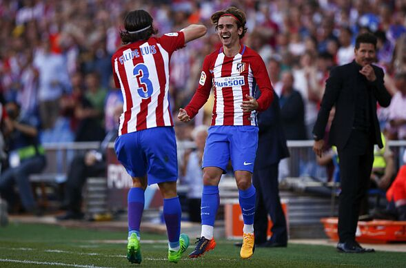 Image result for Antoine Griezmann with Filipe Luis