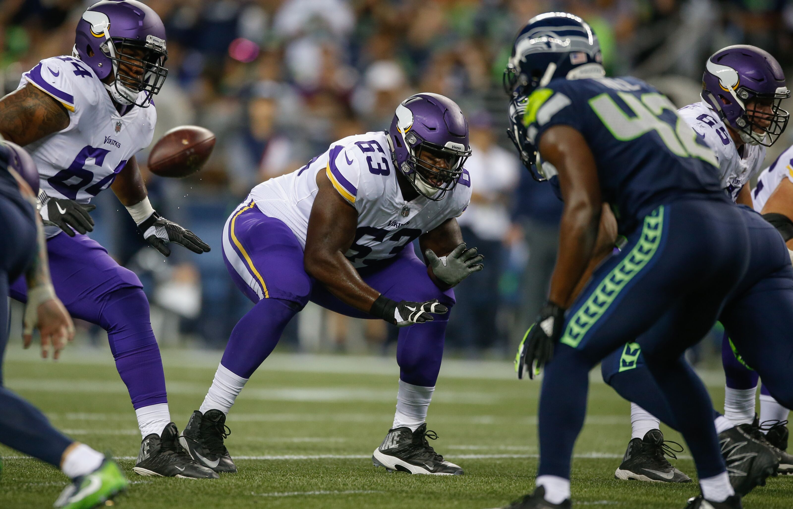7f11d3301e15c2 Who else is on the offensive line? Checking out the Vikings' backups