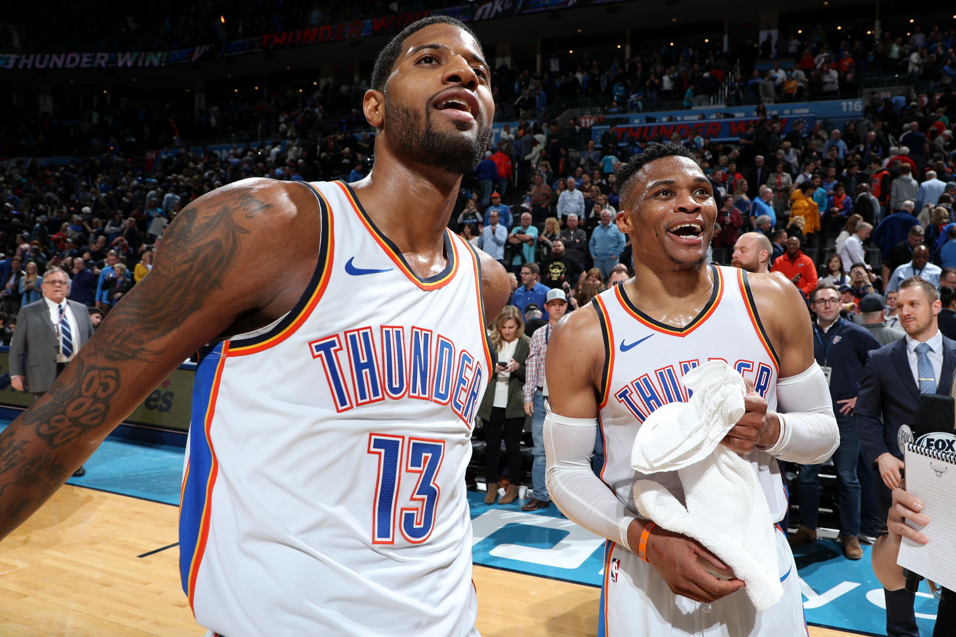 d81636c0148a OKC Thunder  PG and Russ make their mark in The Ringer s top-25