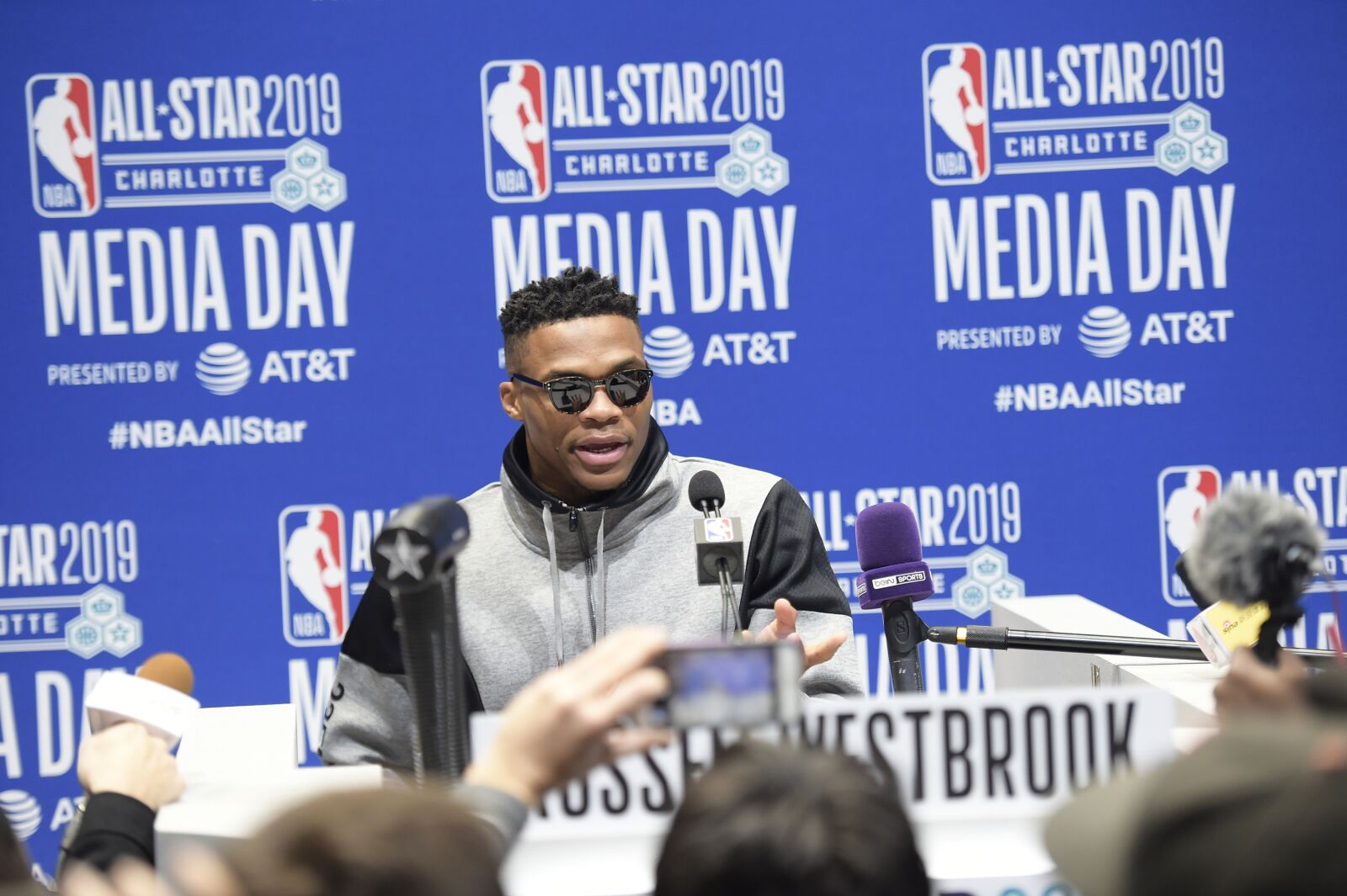 OKC Thunder star Russell Westbrook active All-Star weekend: fashion, family, PG, KD, GOATs and more
