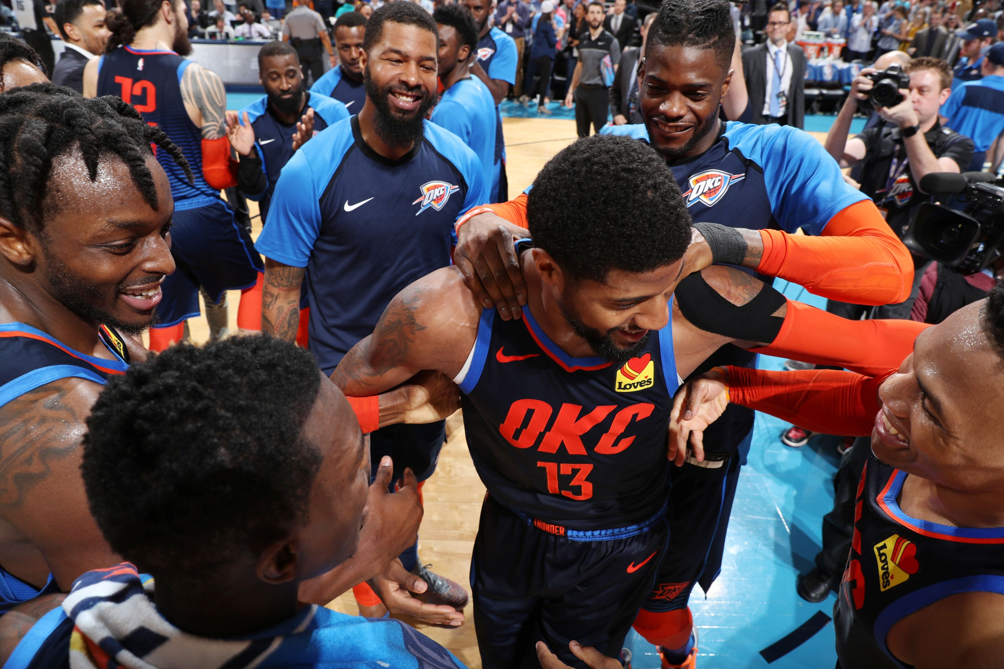 0c5aba12905 OKC Thunder in the news  Paul George participates fully in practice  pain  free