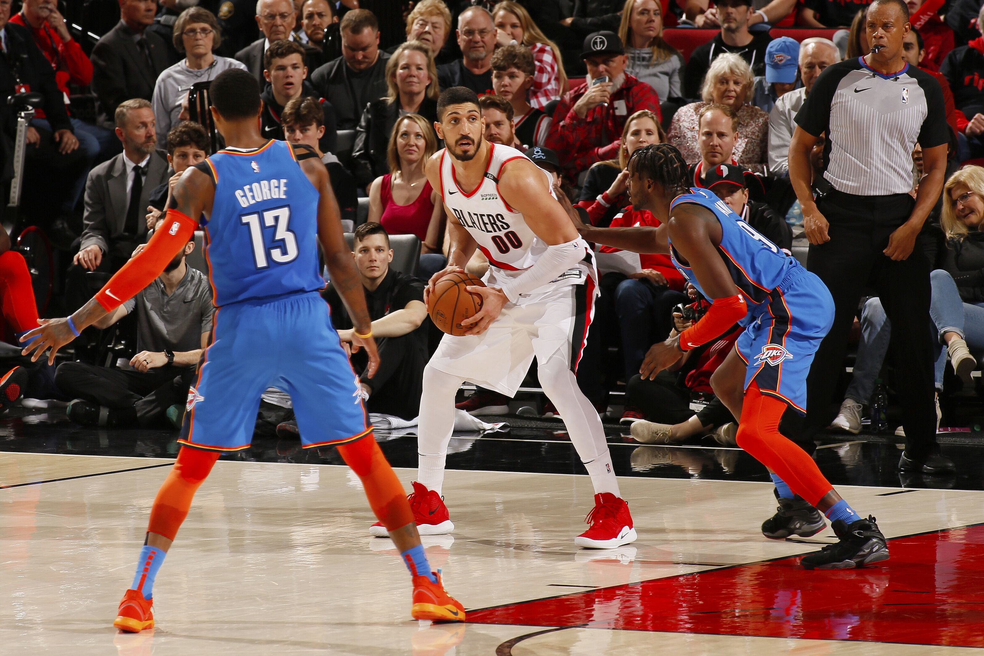 7d994eee4bb In Game 1, the OKC Thunder shot the three at a historically low mark.  Shifting to Game 2, the team aims to even the series in Rip City.