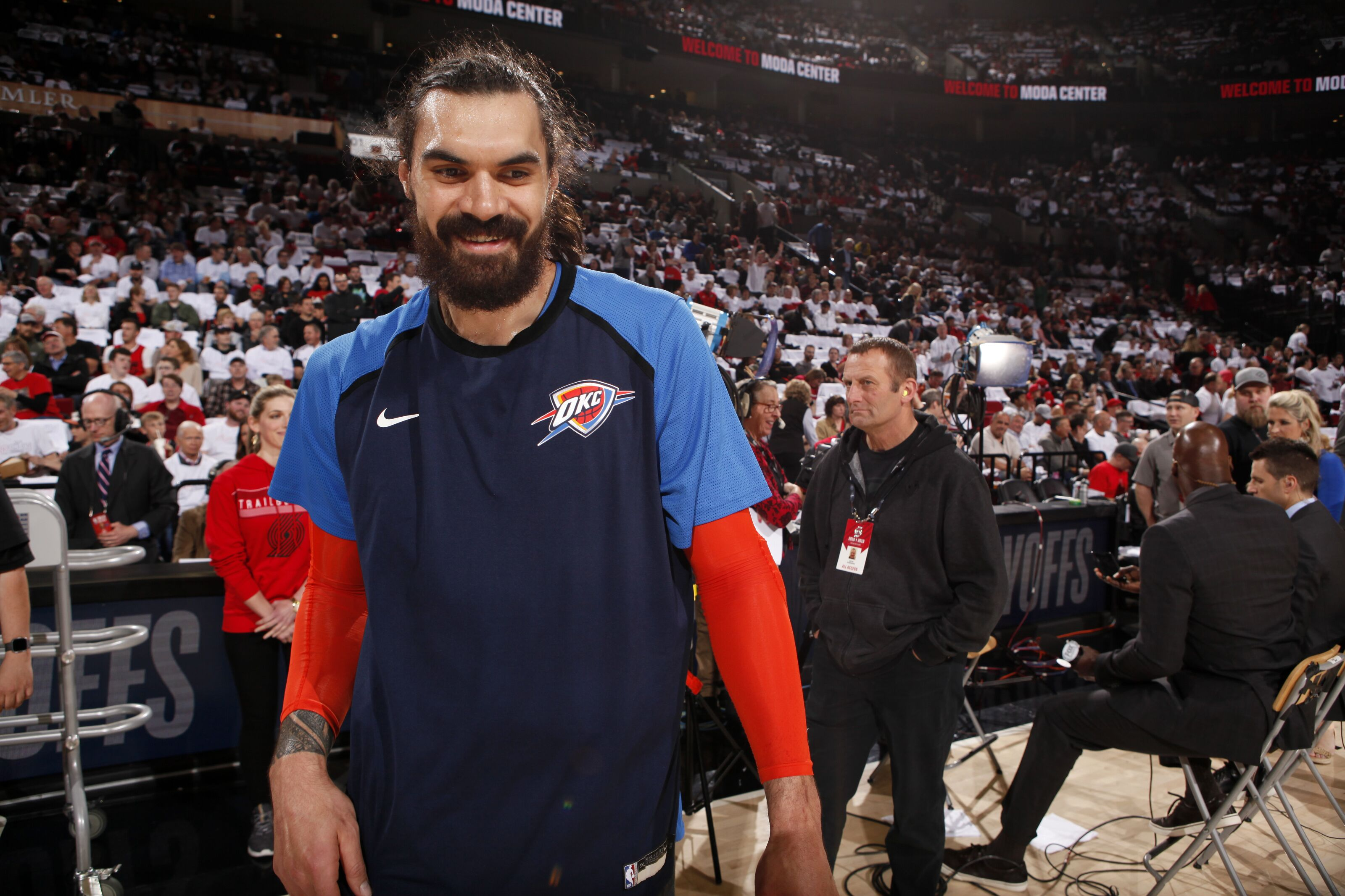 Steven Adams hosts camps in New Zealand, Chris Paul building rapport with OKC Thunder youngsters