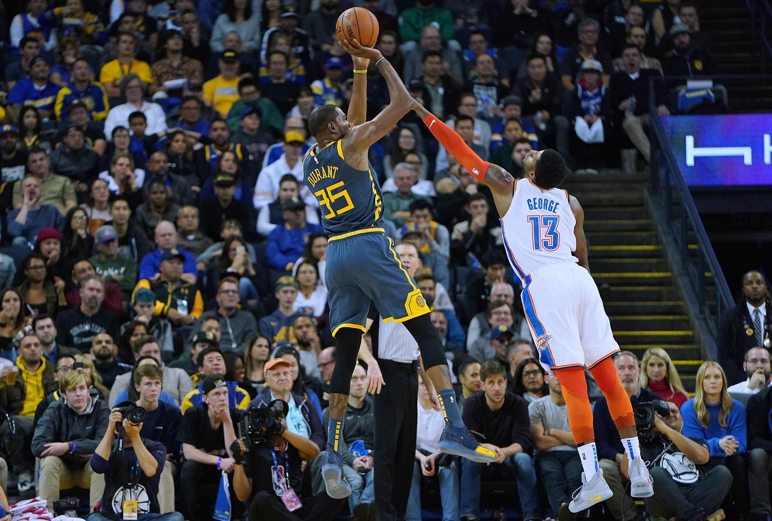 d1b201c8d3a Gameday Preview: OKC Thunder face litmus test against defending champs and  top-seeded Warriors