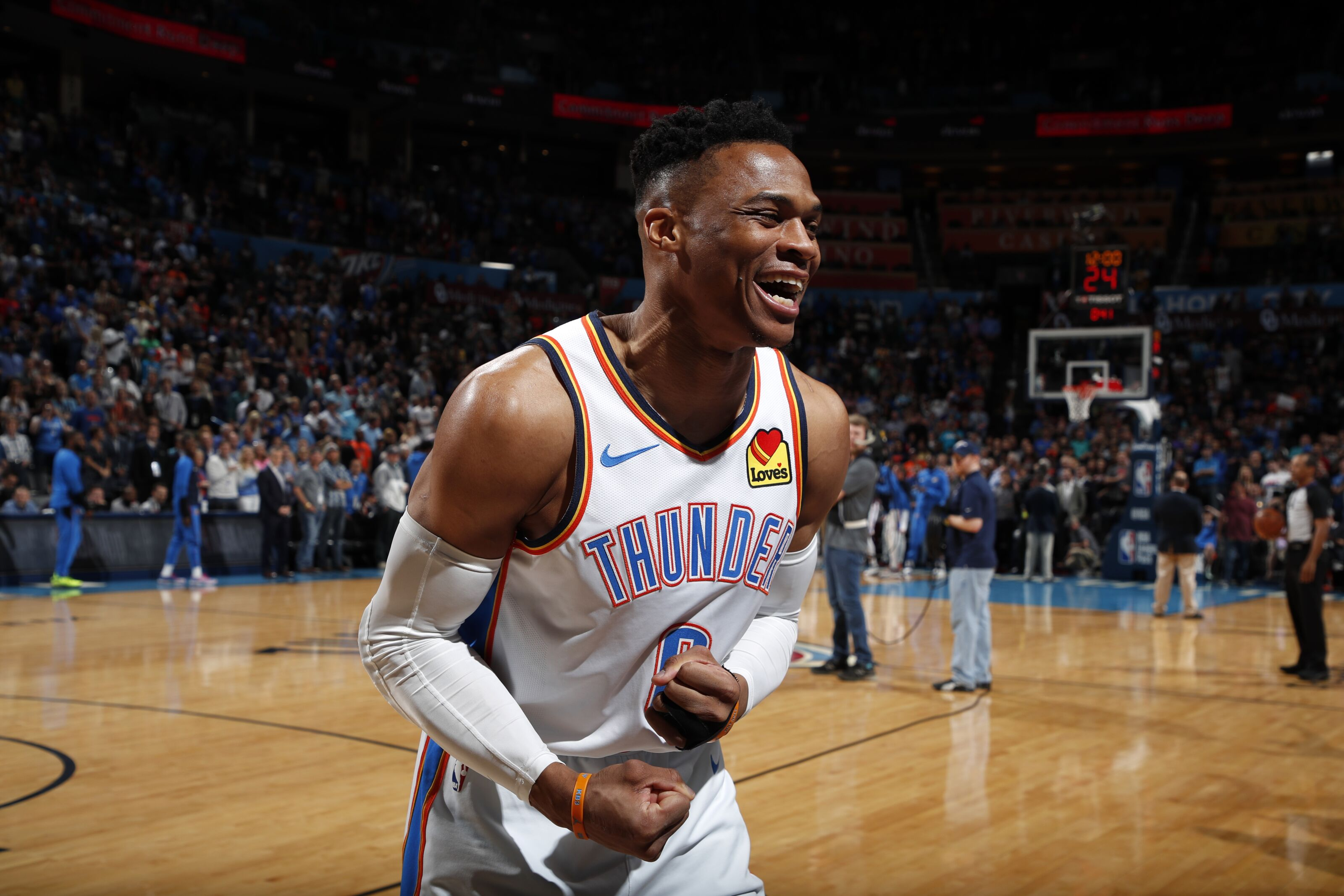 Nipsey Night: OKC Thunder guard Russell Westbrook posts double