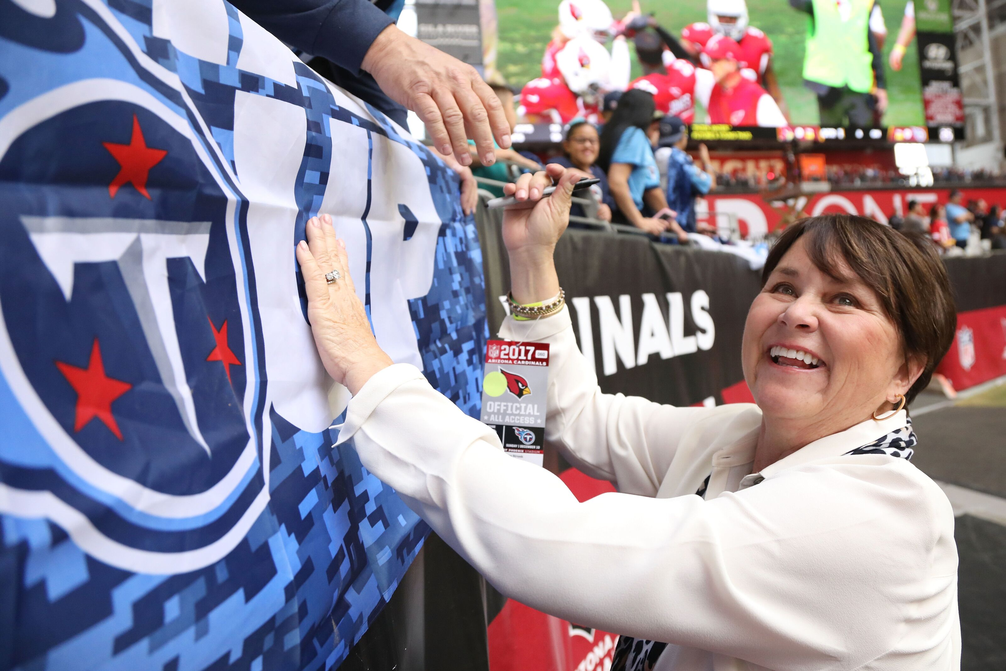 Titans owner Amy Adams Strunk named Tennessean of the Year