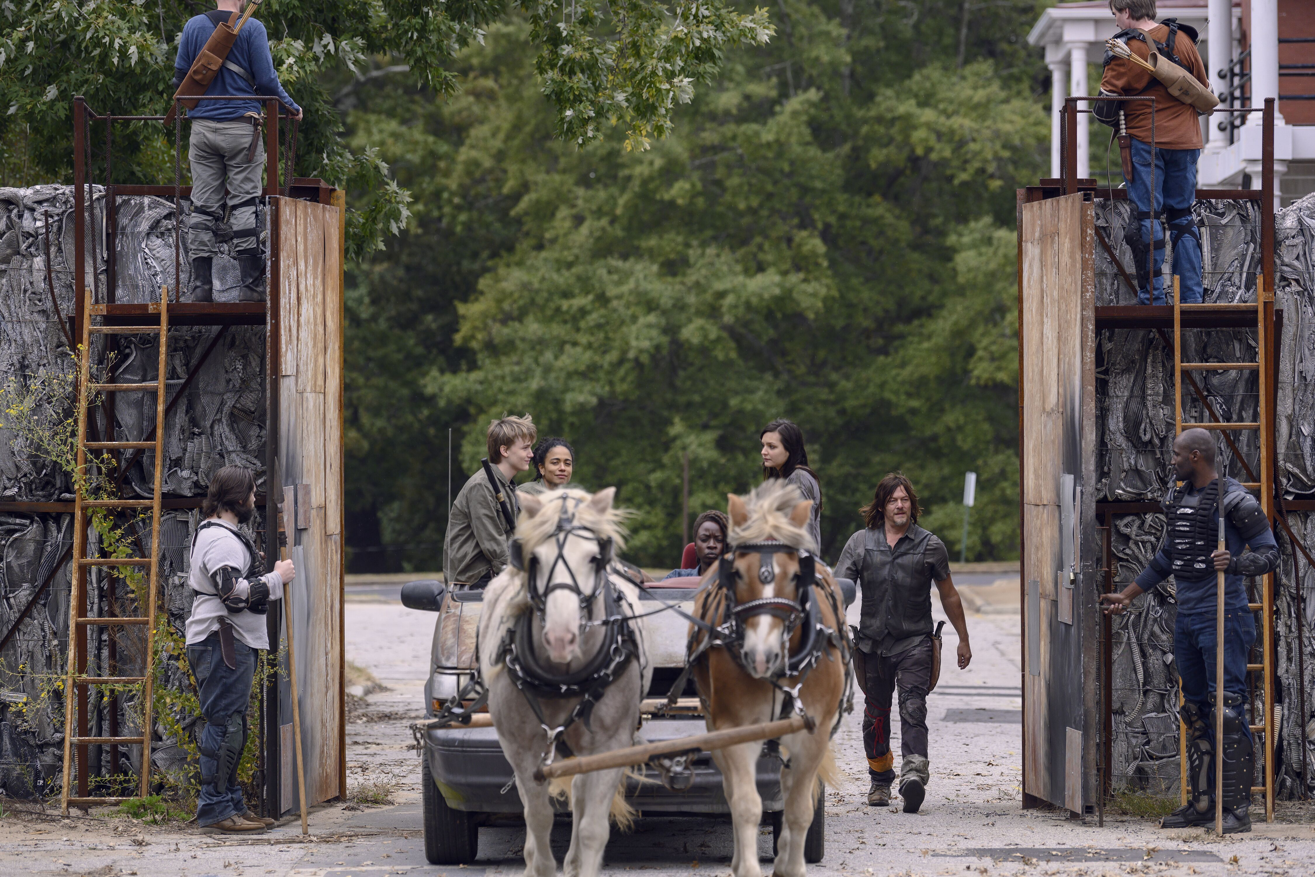Is conflict with the Whisperers unavoidable now on The Walking Dead?