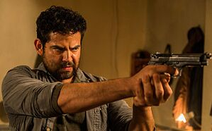 Morales (Juan Gabriel Pareja) in The Walking Dead Season 8 Episode 2 Photo by Jackson Lee Davis/AMC