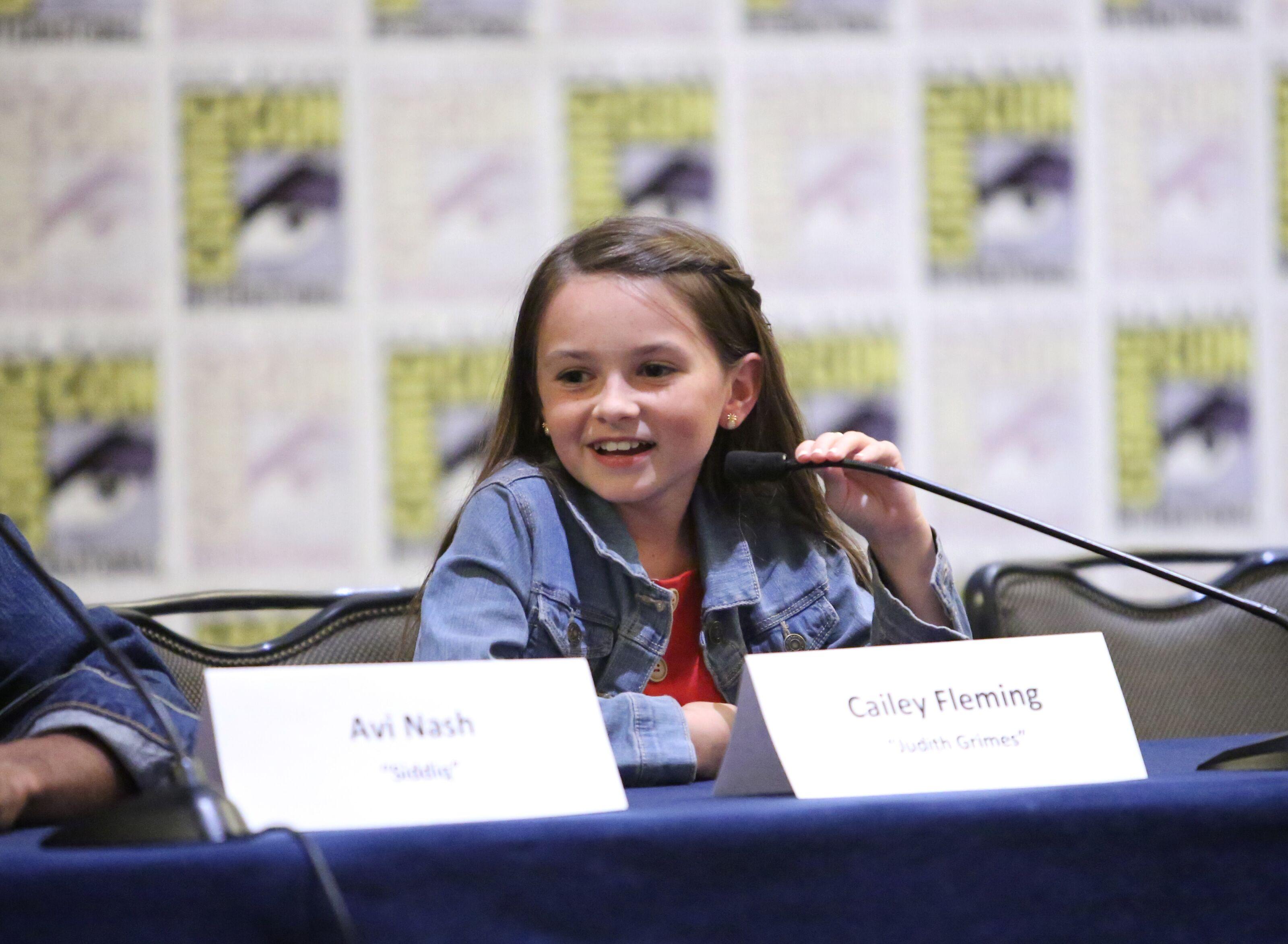 Watch: The Walking Dead star Cailey Fleming flips over Judith Funko Pop
