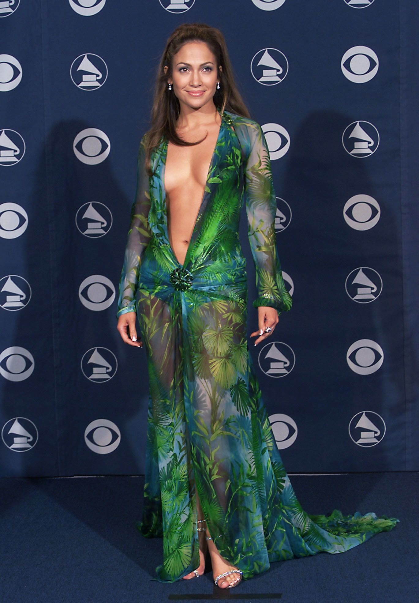 Versace x Chain Reaction take inspiration from J-Lo dress