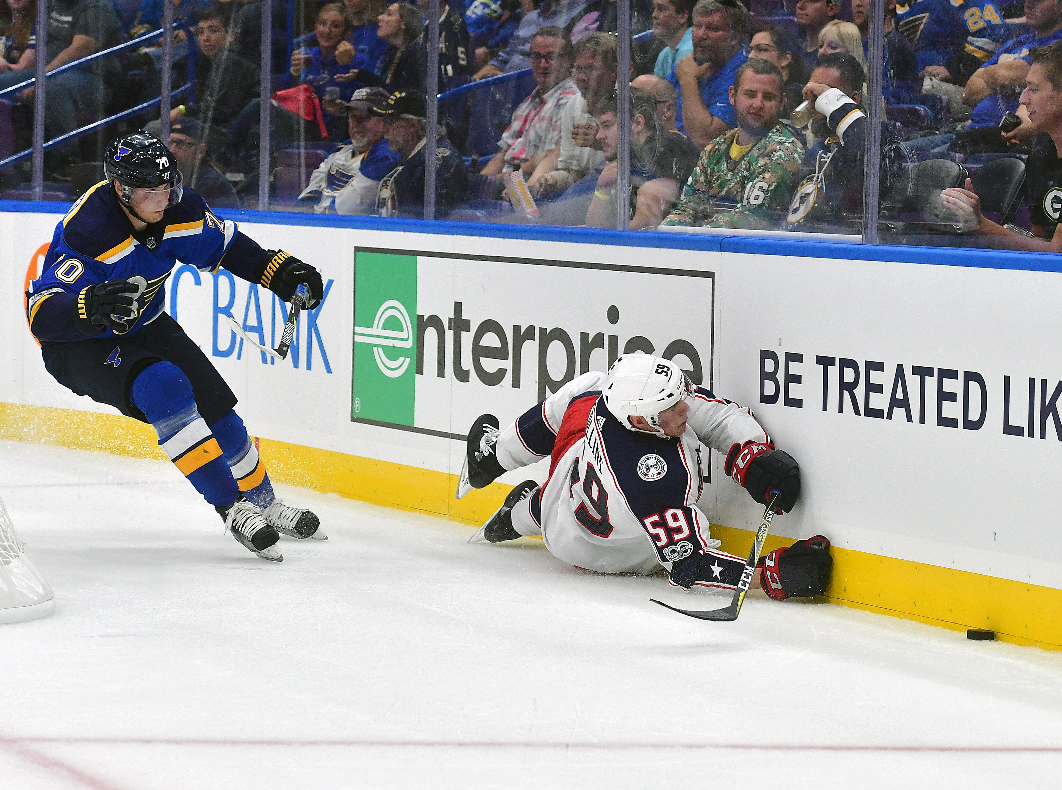 Columbus Blue Jackets Fall to Blues in Second Preseason Game