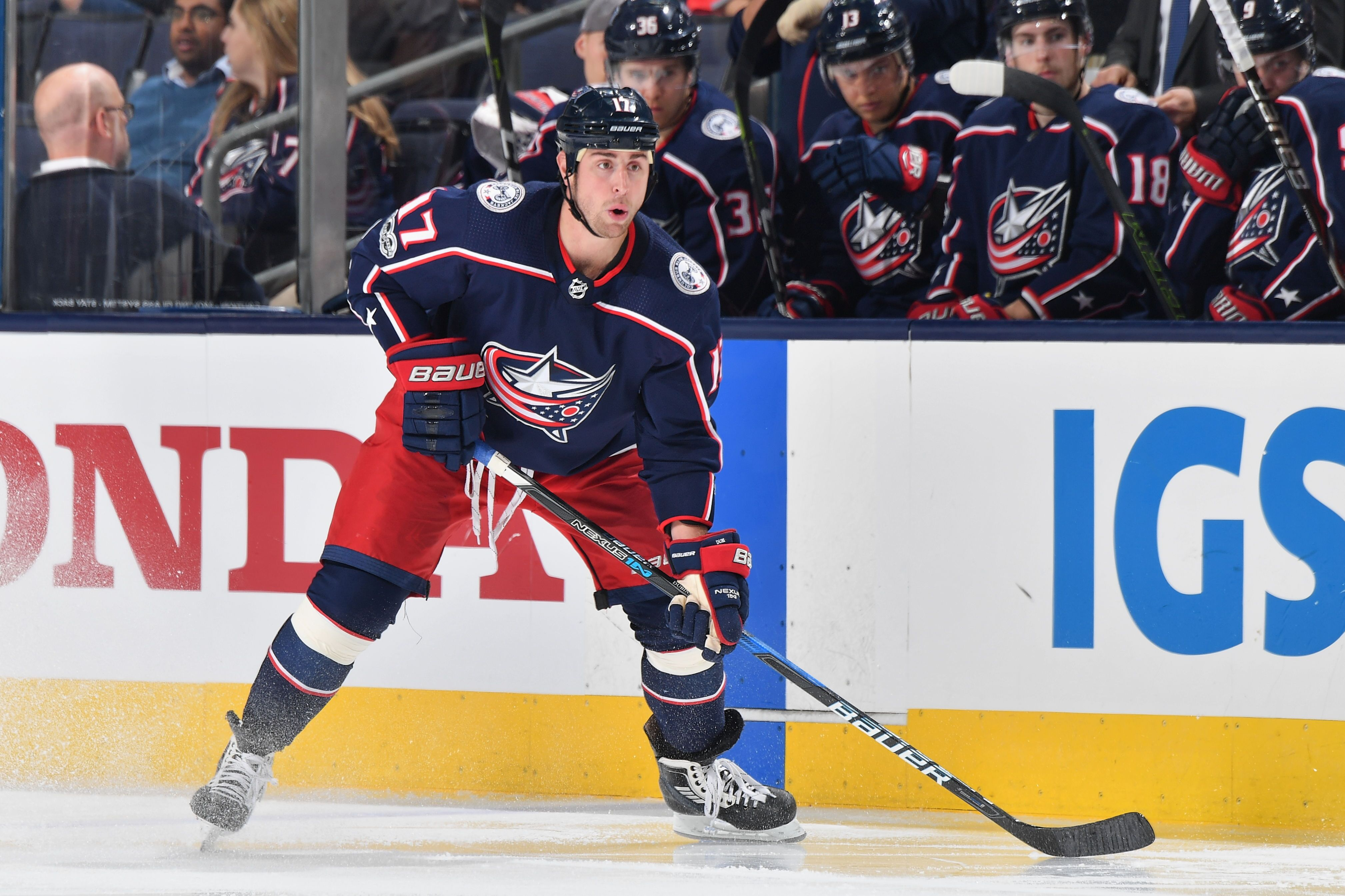 Brandon Dubinsky demoted from Columbus Blue Jackets alternate captain