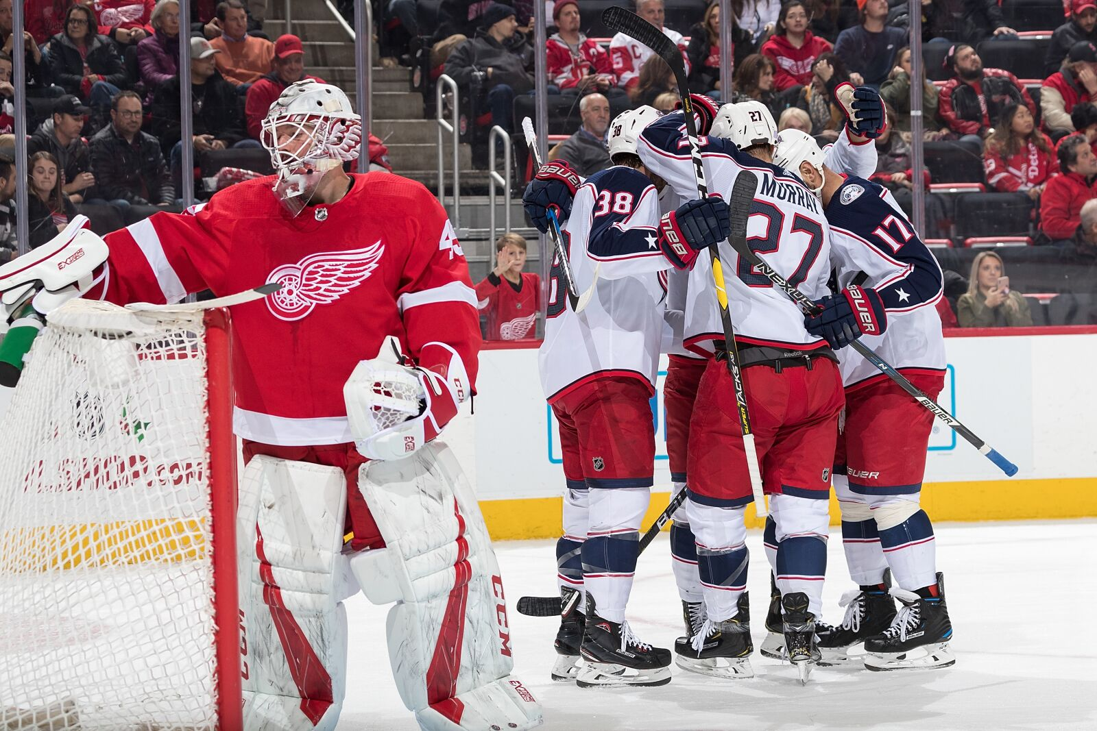 Columbus Blue Jackets Outlast Offensive Onslaught With Detroit 7-5