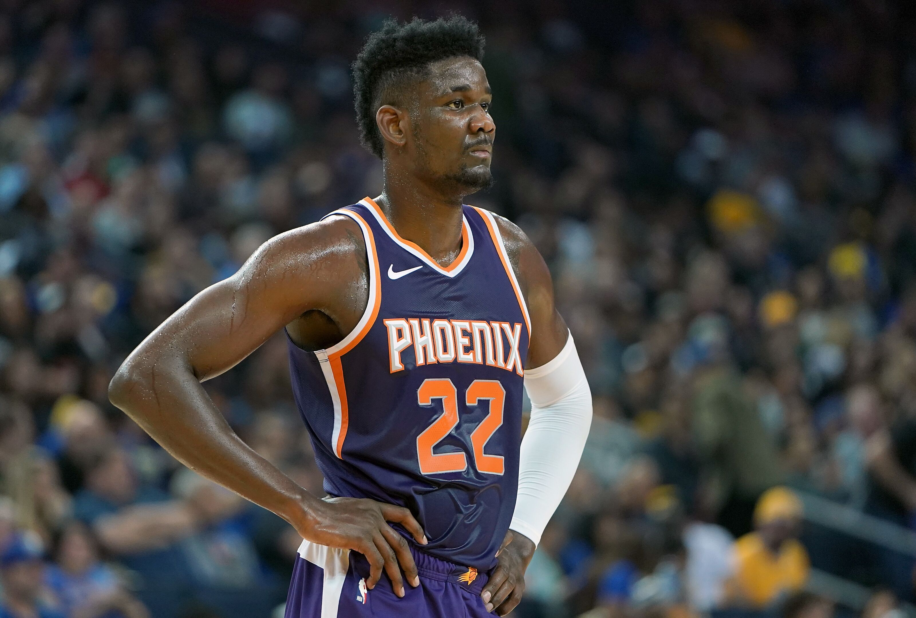 new concept fa583 acc15 Phoenix Suns: Just give Deandre Ayton the ball - Valley of ...