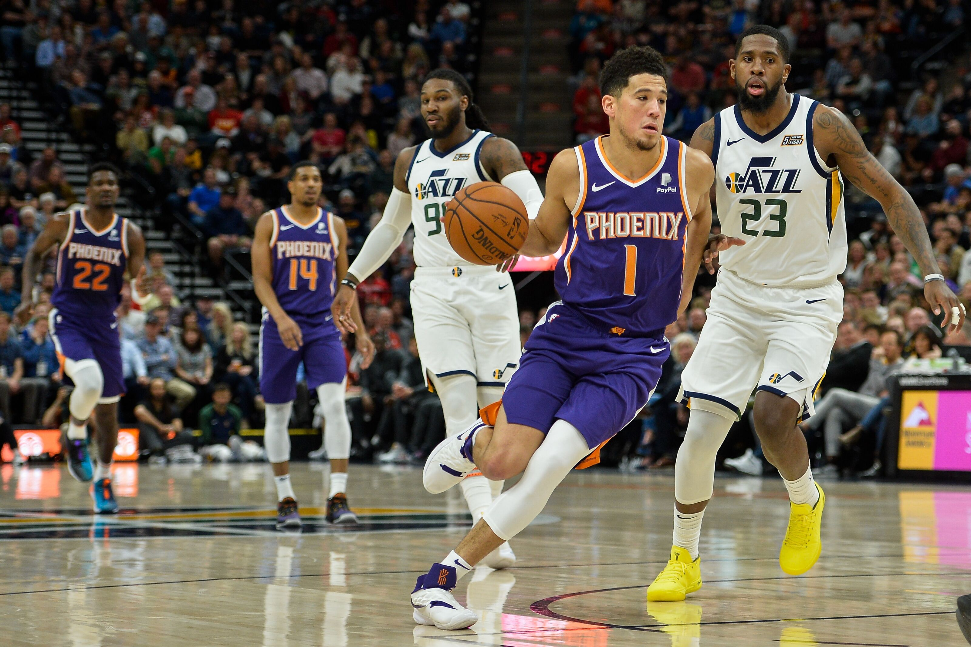 more photos 68df5 171e4 Devin Booker's 59 points should mean: Fire Away - Valley of ...