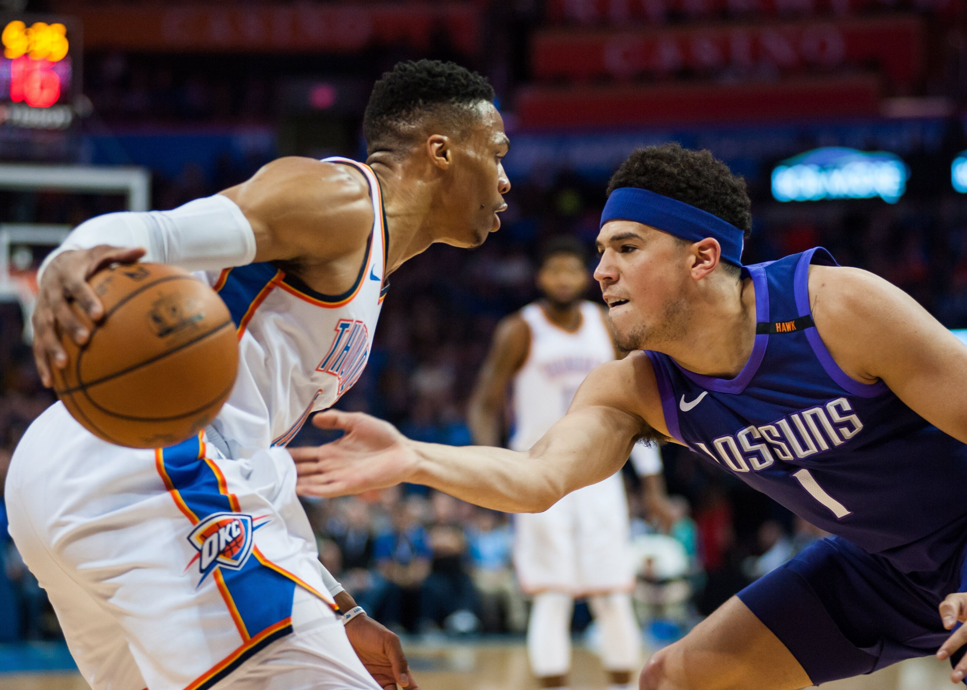 b5fdddbcde69 Would Devin Booker for Russell Westbrook work for the Suns  - Valley of the  Suns