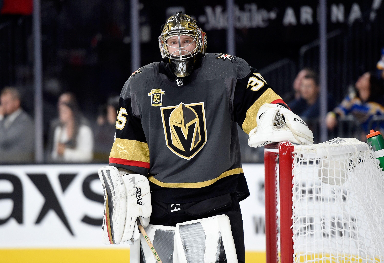new product 7f363 6c7e4 Vegas Golden Knights Resign Goaltender Oscar Dansk