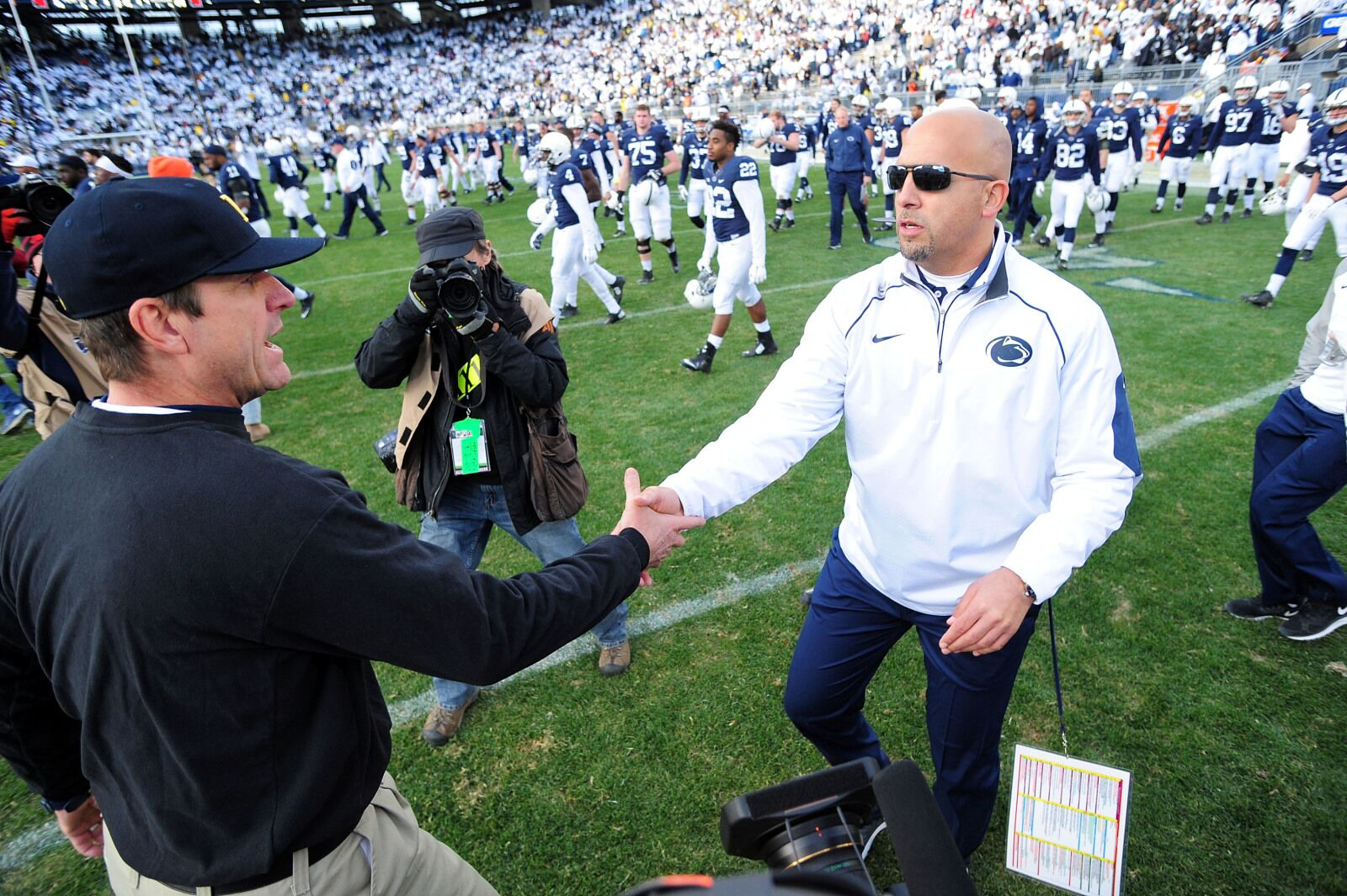 Penn State football: Jim Harbaugh offers proper credit to Nittany Lions
